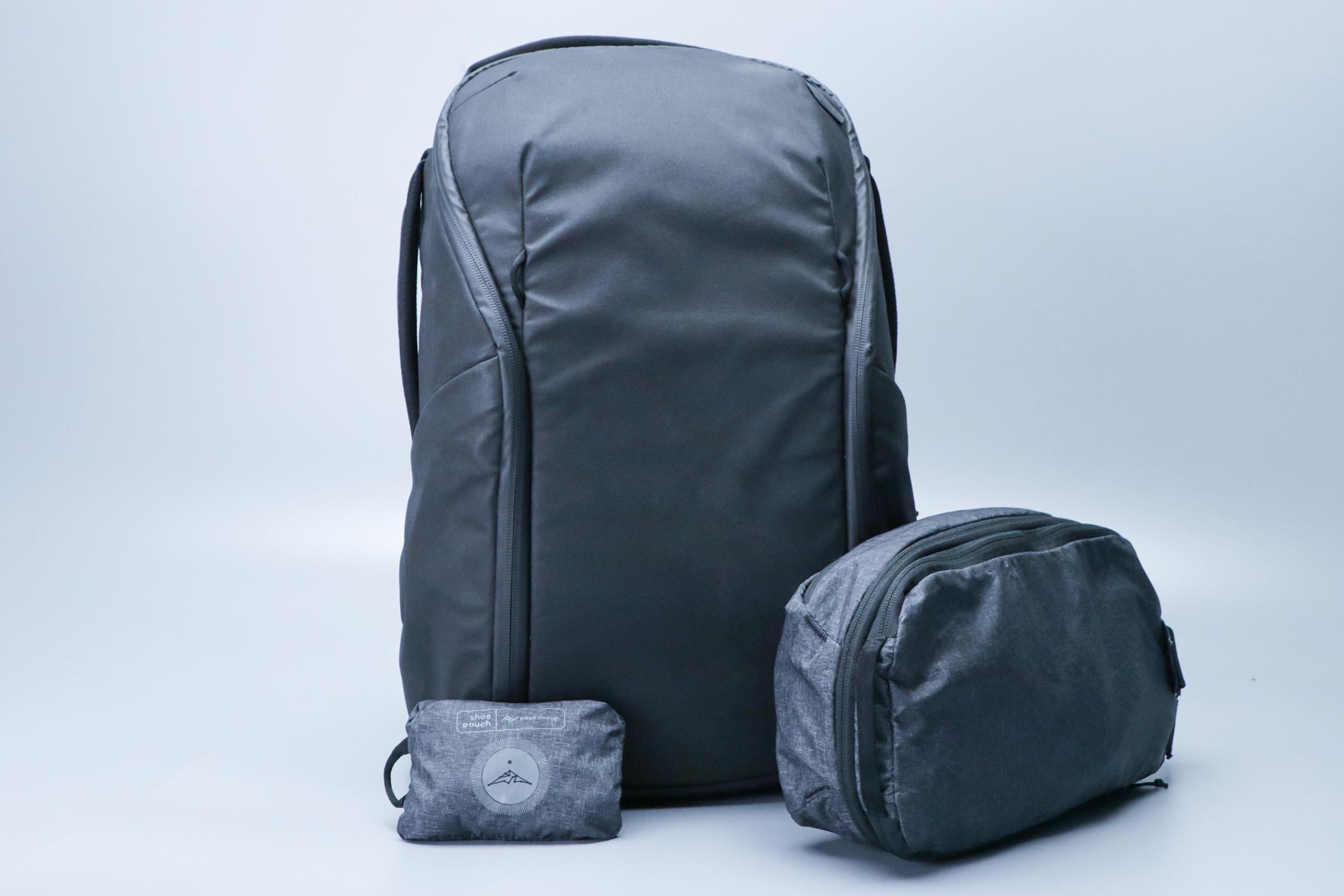 Peak Design Shoe Pouch with Peak Design Travel Backpack