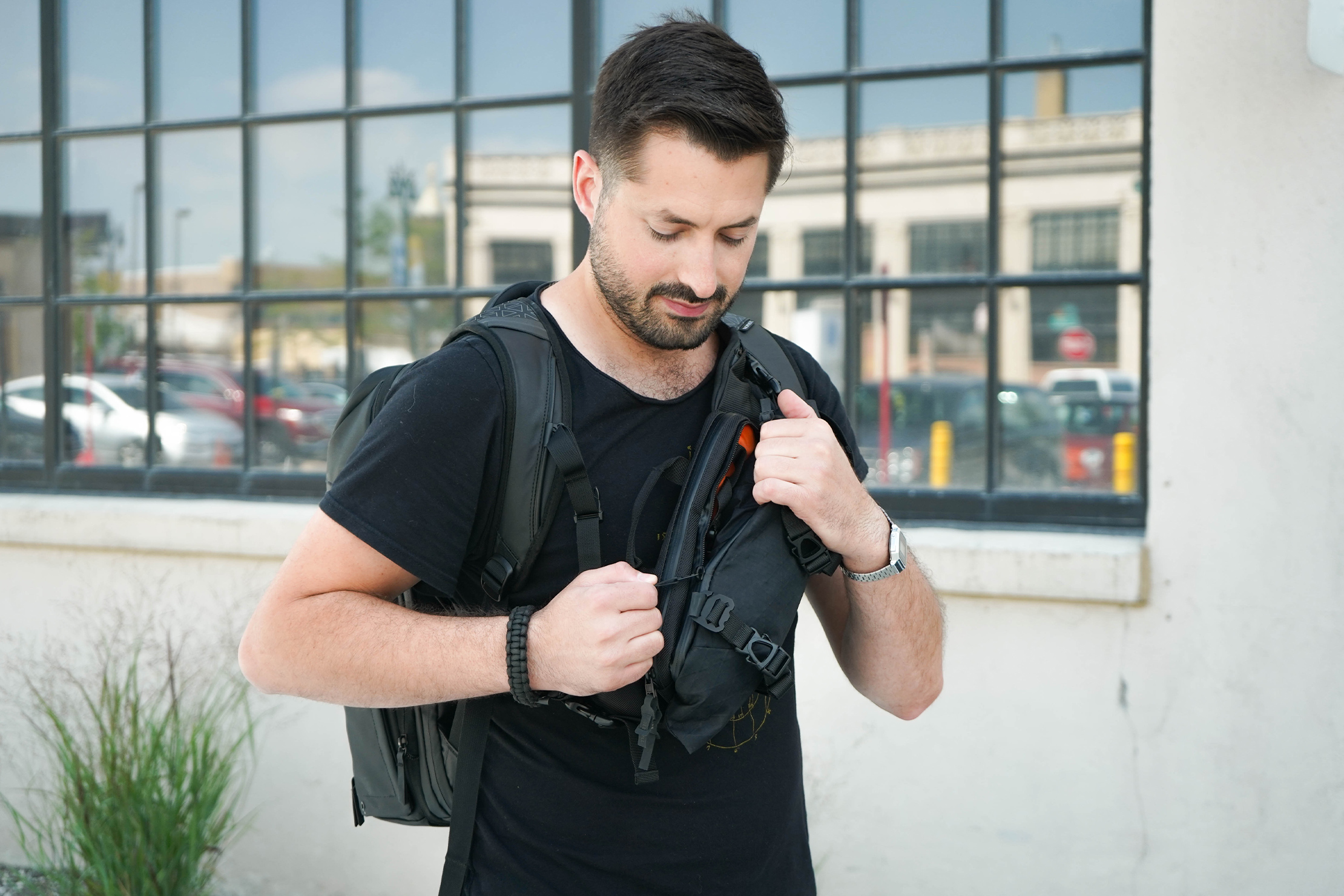 CODEOFBELL X-POD Worn with a Backpack
