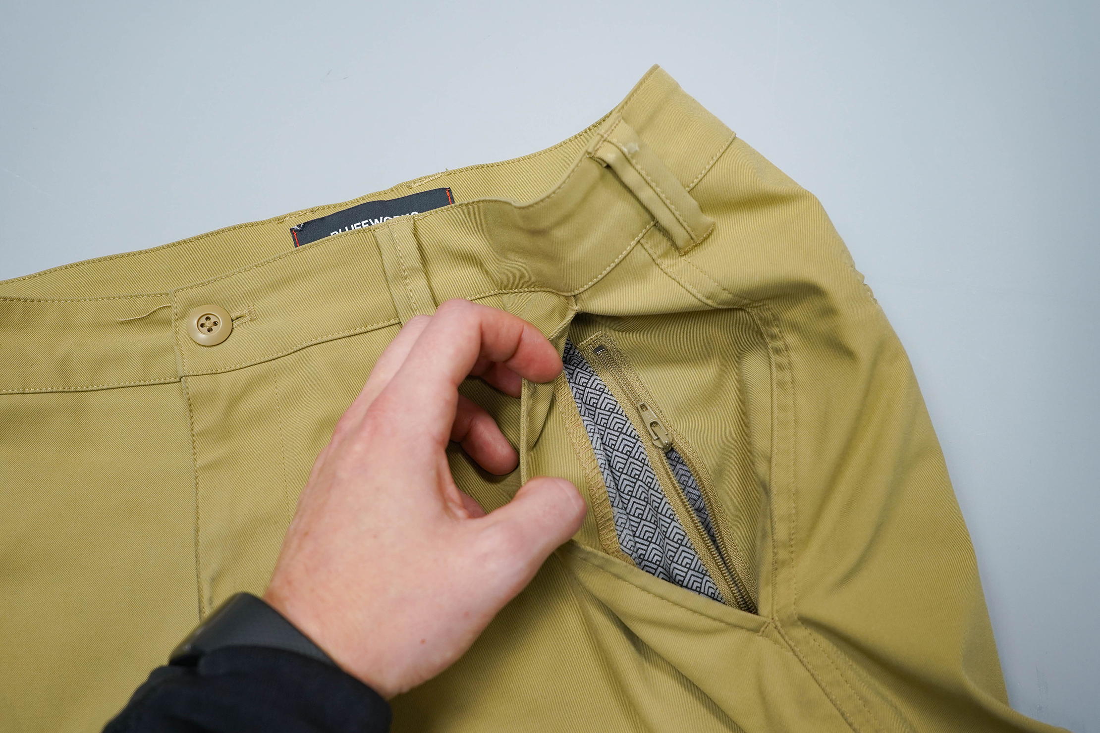Bluffworks Ascender Chino Front Zipper Pocket
