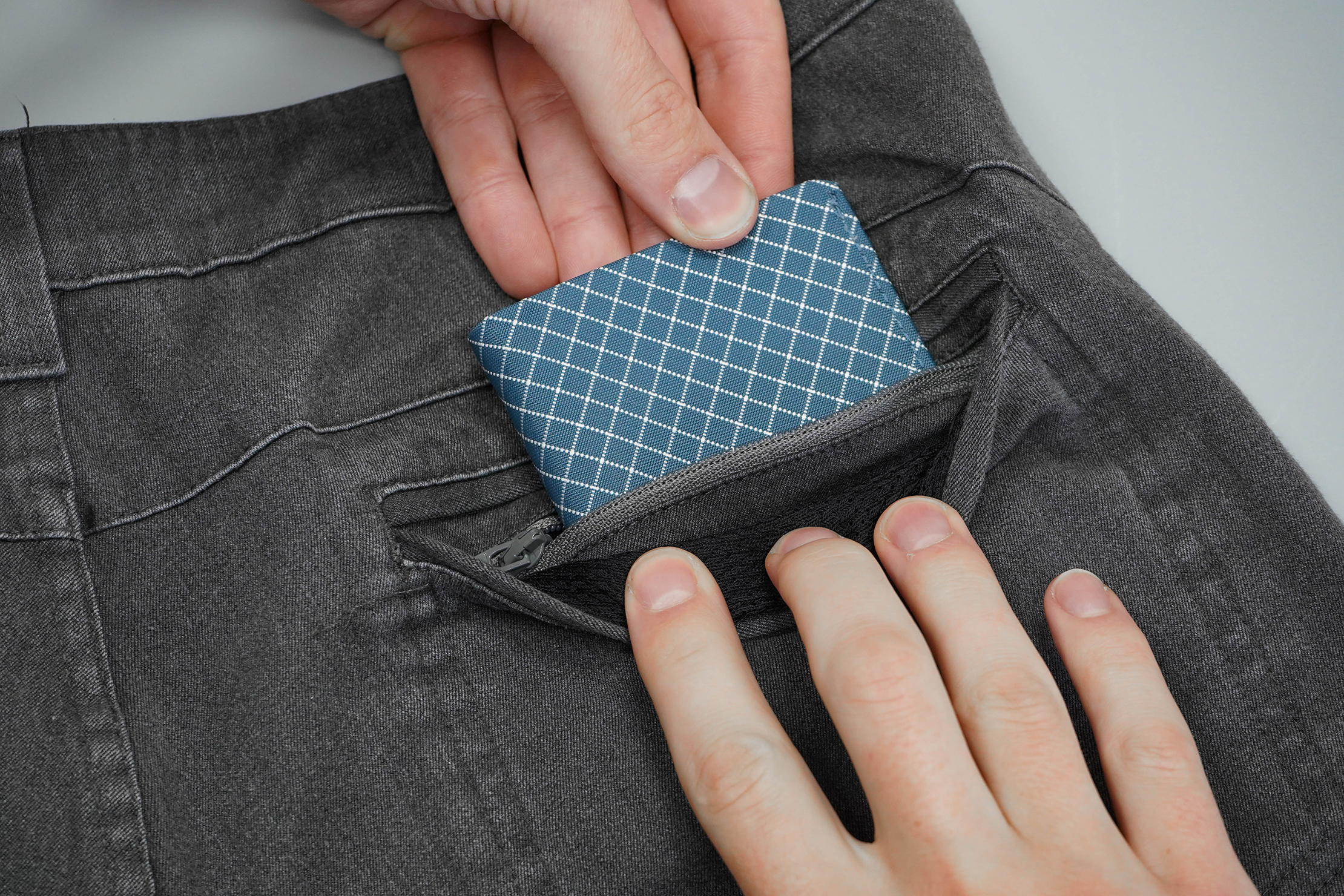 Makers And Riders Traveler Stretch Jeans Zipper Pocket Wallet