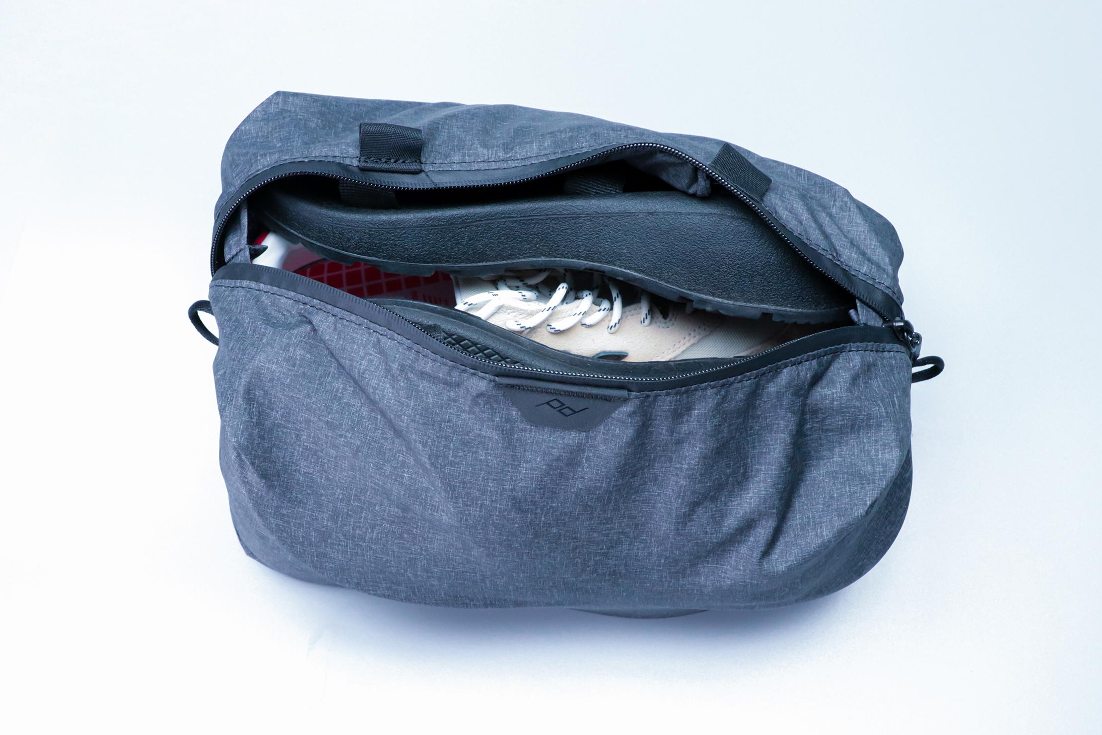 Peak Design Shoe Pouch open compartment