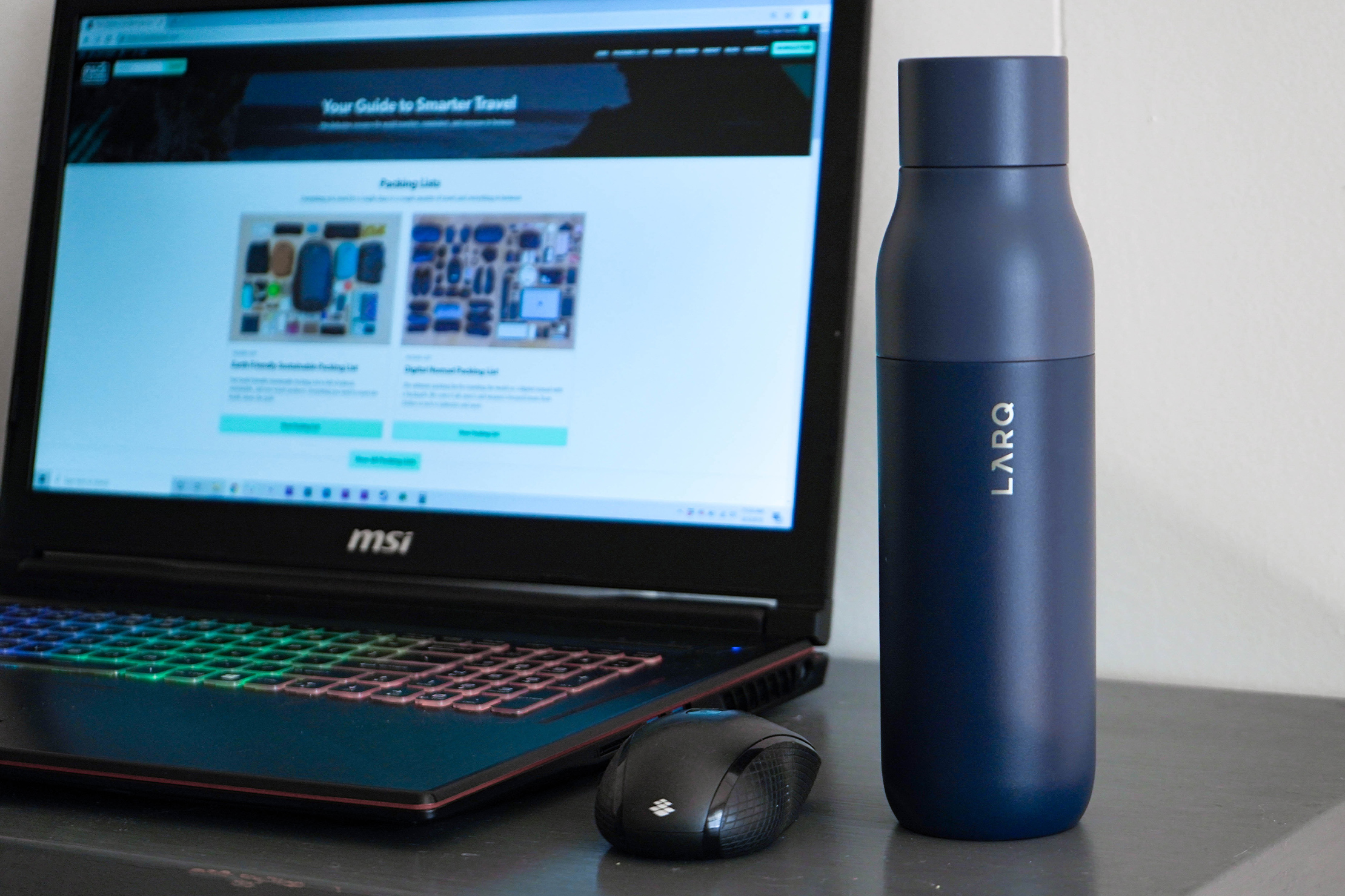 LARQ Bottle On Desk