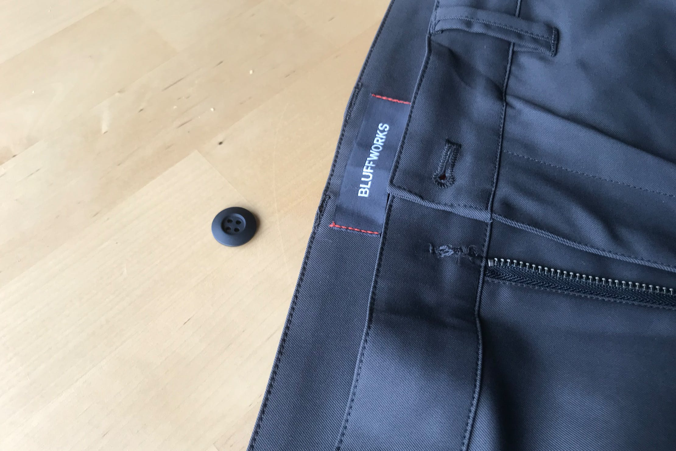 Bluffworks Ascender Chino Button Fell Off