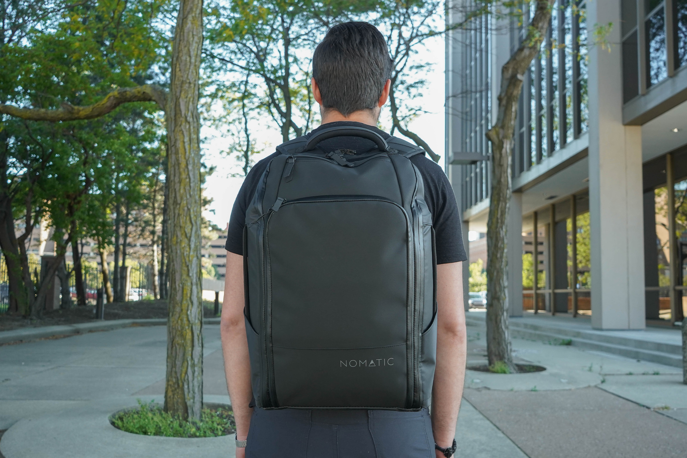 NOMATIC Travel Pack In Use