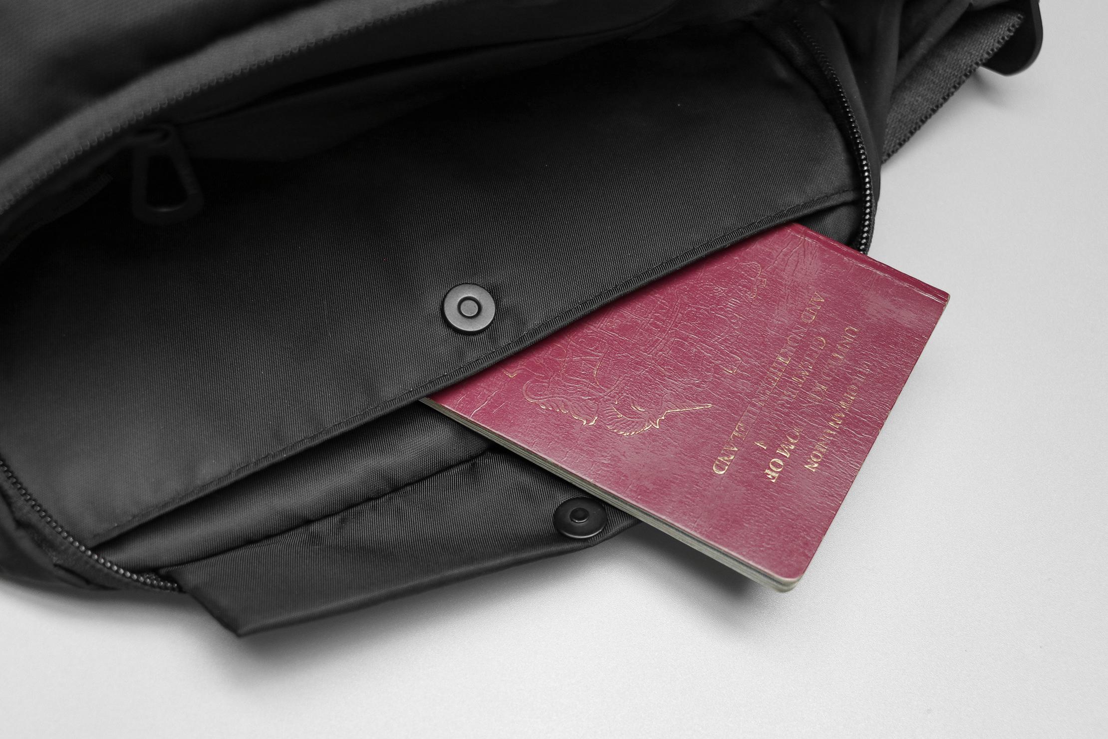 Côte&Ciel Isarau Small Passport In The Popper Pocket