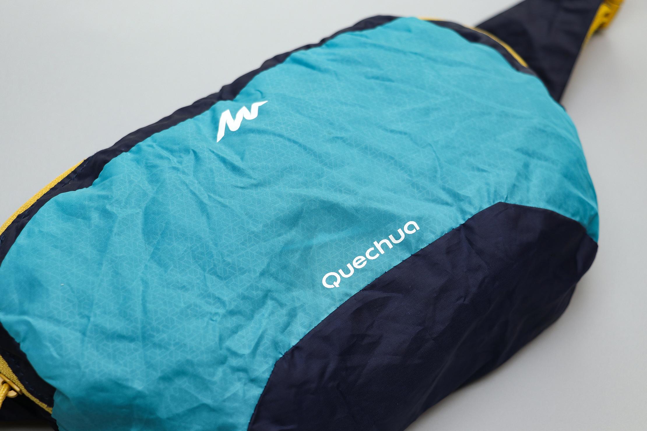 Quechua Ultra Compact Travel Waist Pack Logo And Material