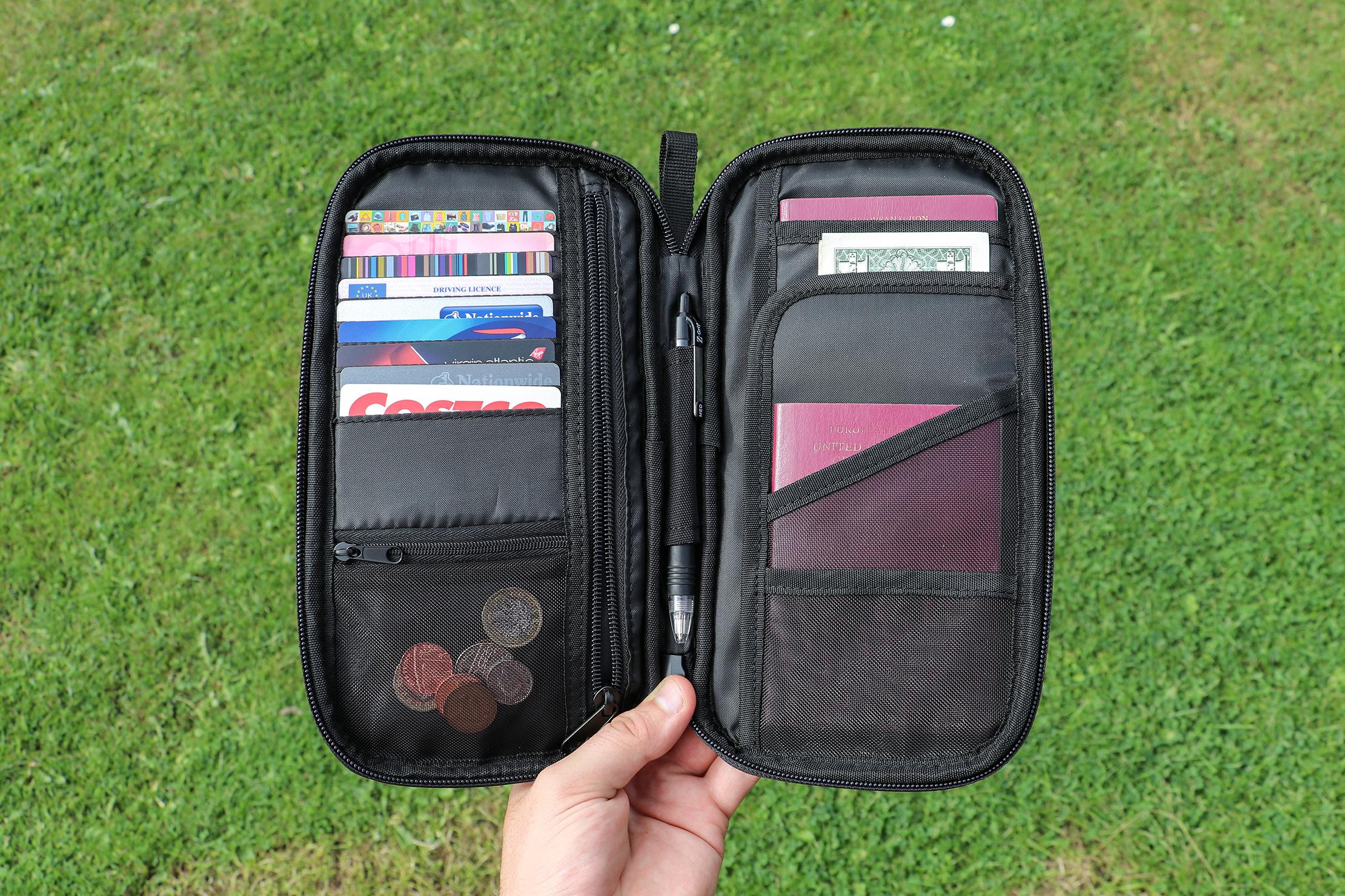 AmazonBasics RFID Travel Passport Wallet In Essex, England