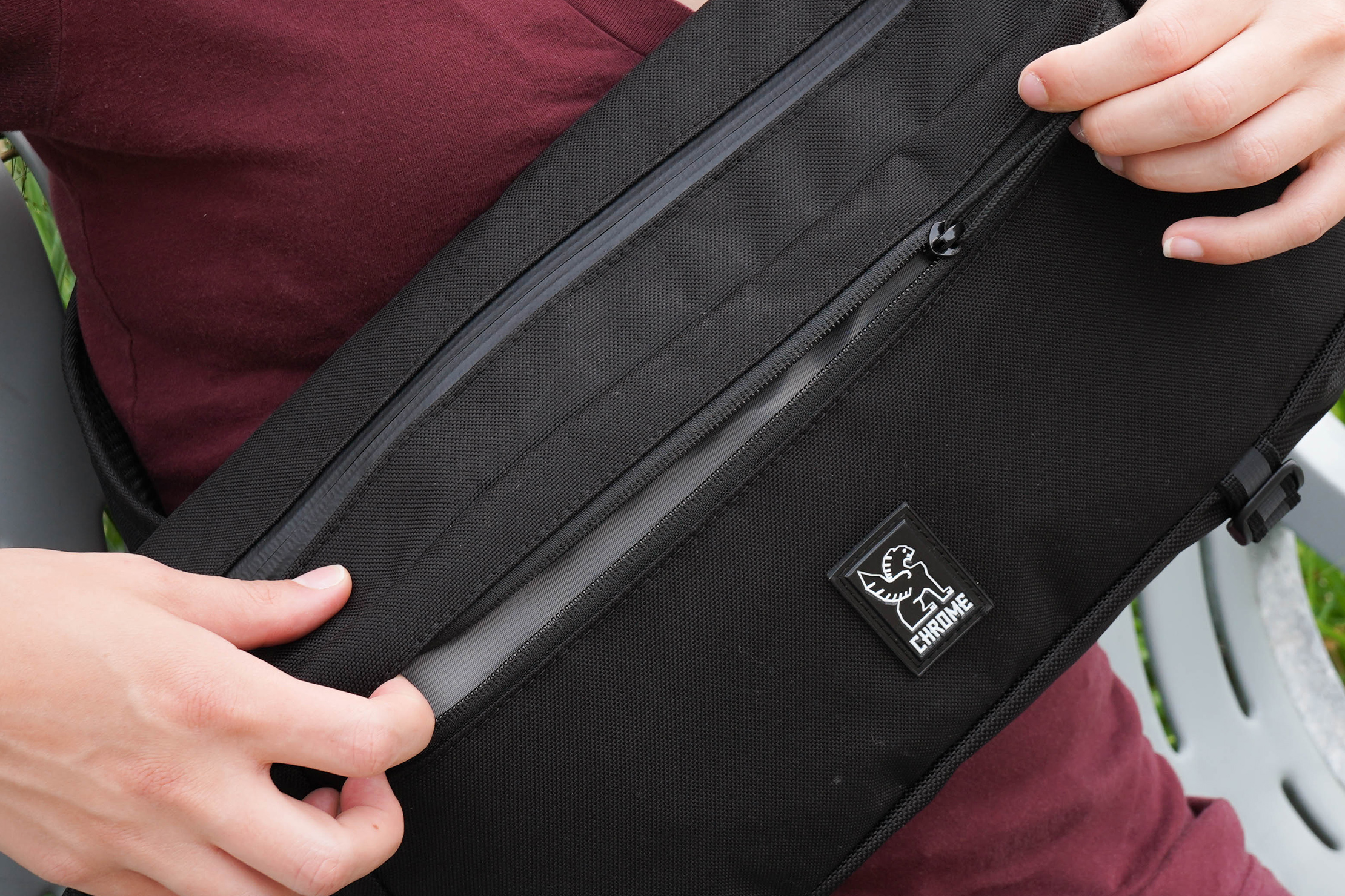 YKK Zipper on the Chrome Industries Kadet Nylon Messenger Bag