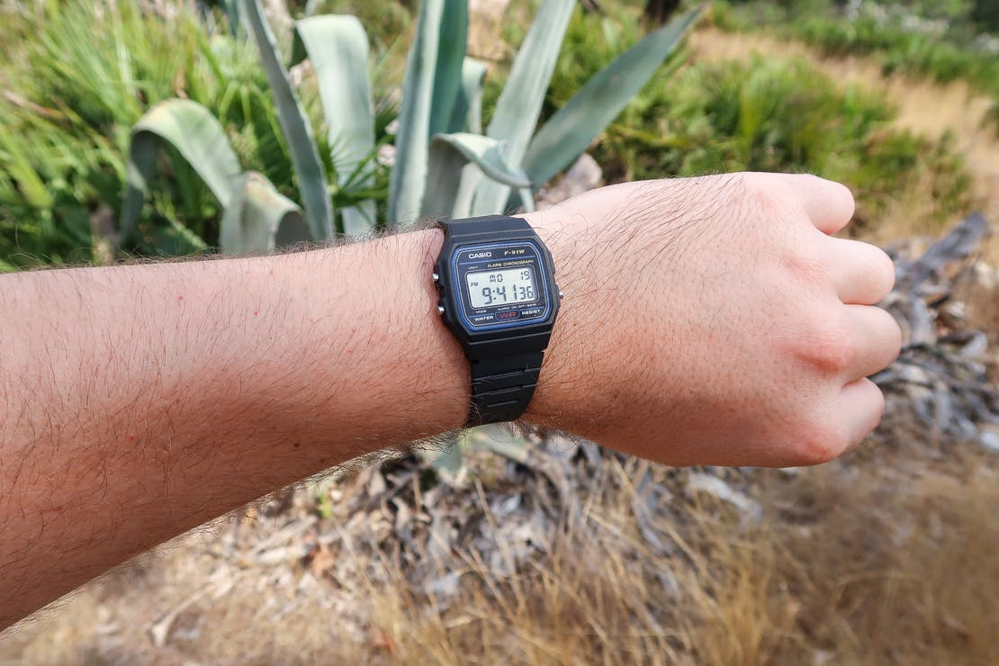 Casio F-91W Digital Watch In Valencia, Spain