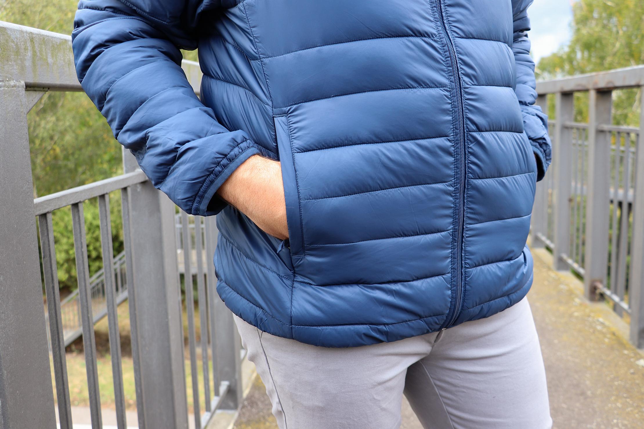 Amazon Essentials Packable Puffer Jacket Pockets