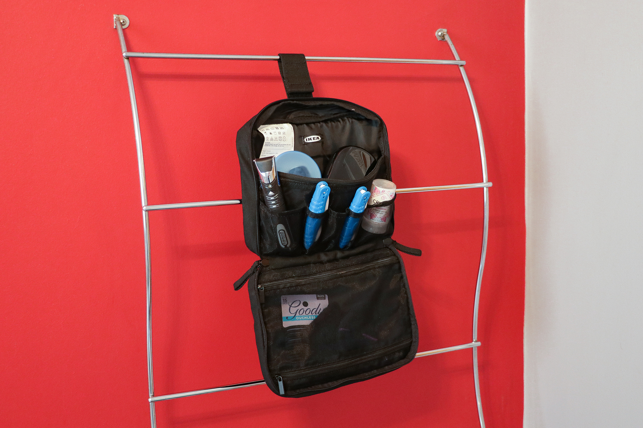 IKEA FORFINA Toiletry Bag Hanging Up