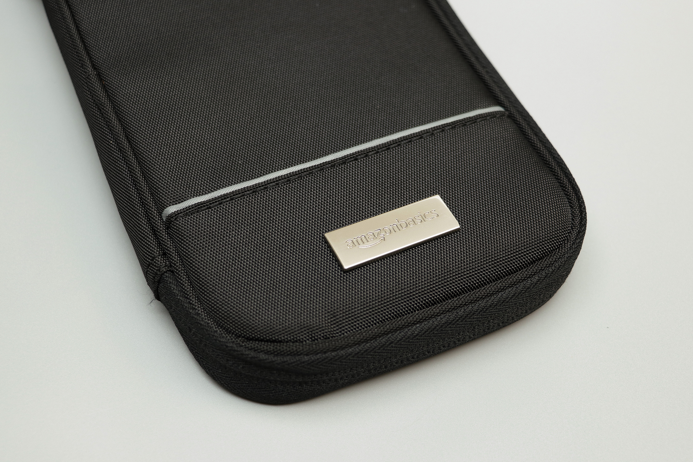 AmazonBasics RFID Travel Passport Wallet Logo And Material