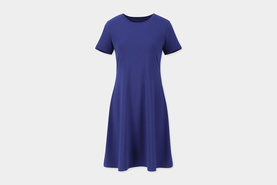 Uniqlo A-Line Short-Sleeve Mini Bra Dress