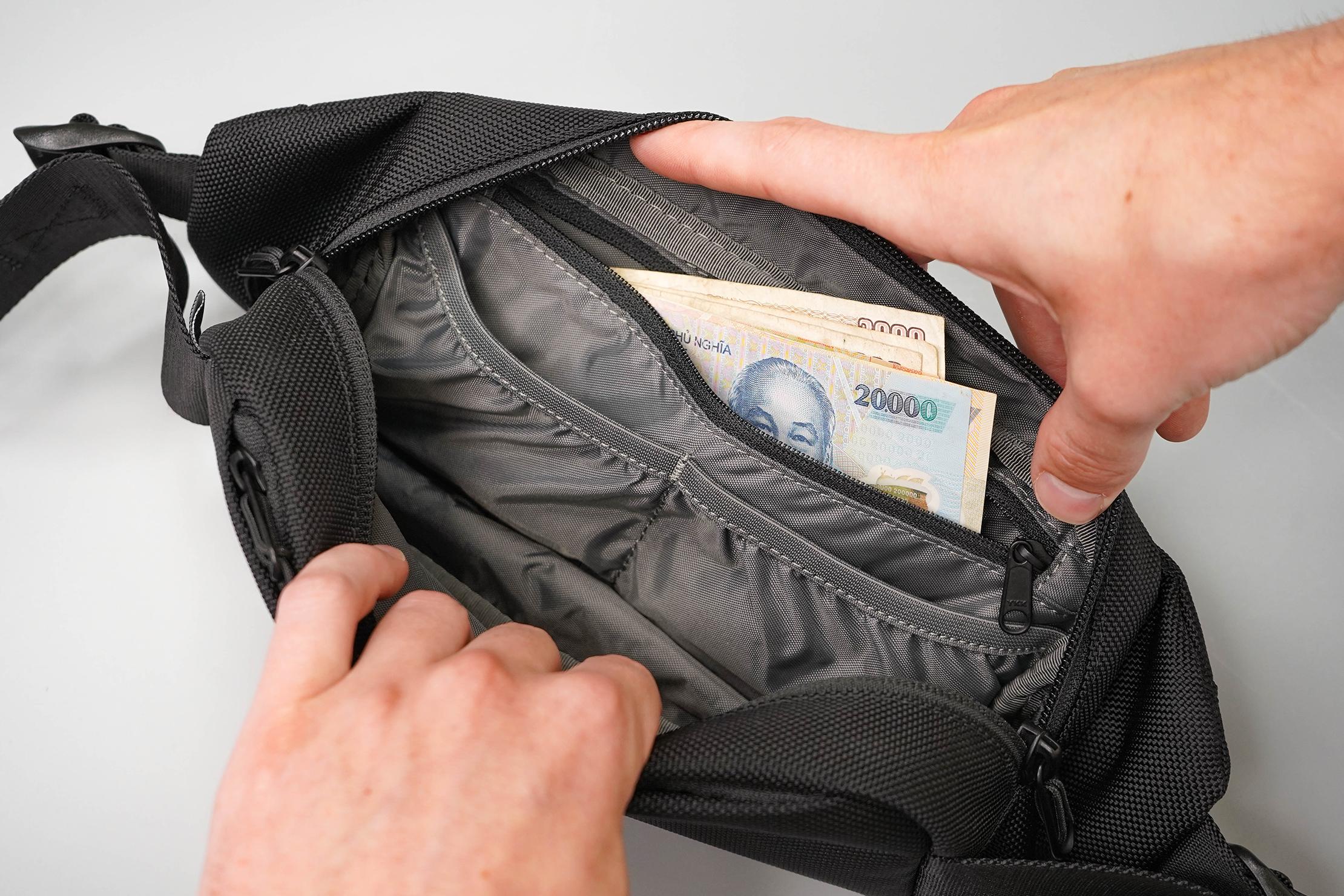 Aer City Sling Inside Zippered Pocket