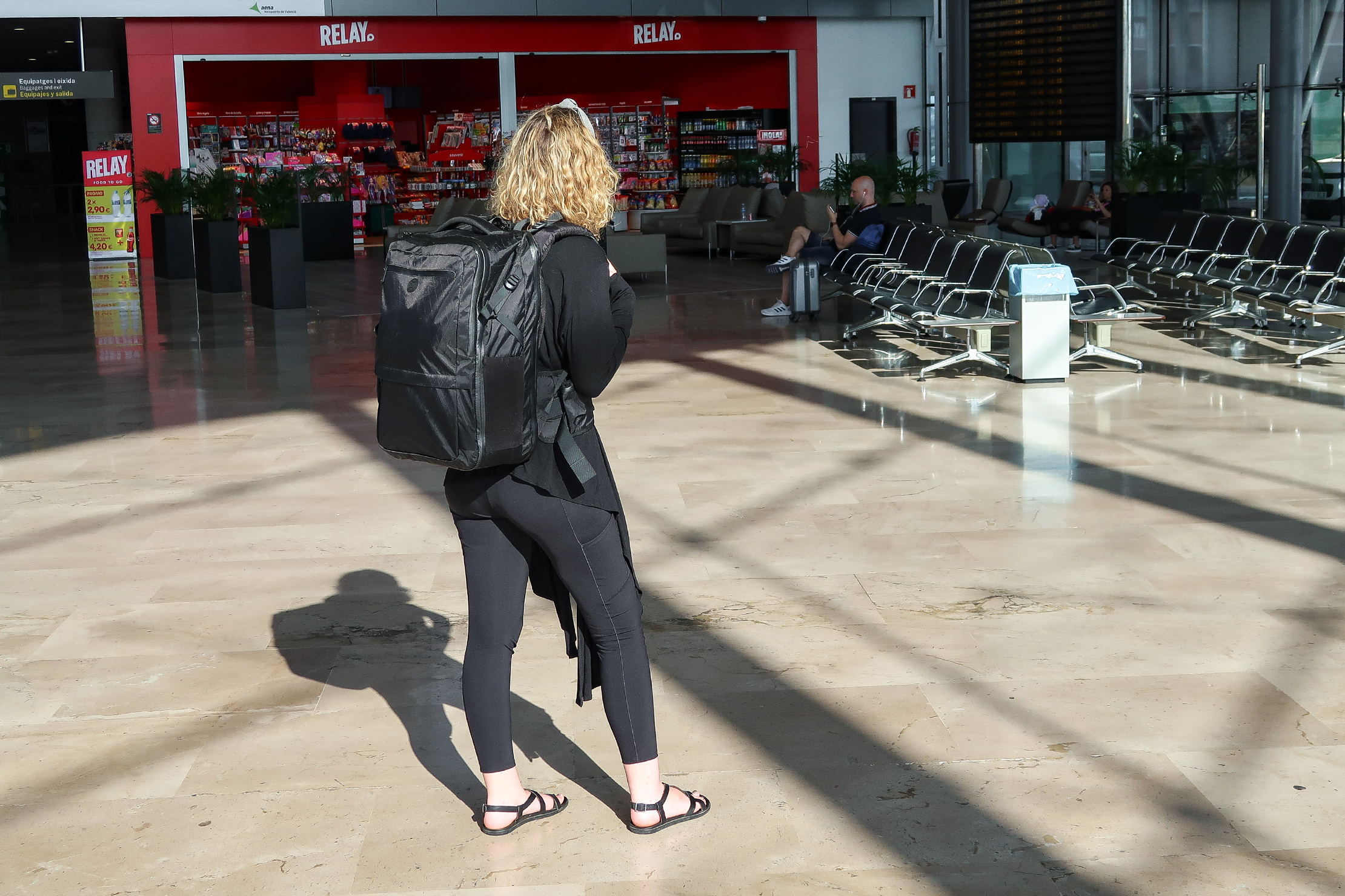Tortuga Outbreaker Backpack In Valencia Airport, Spain