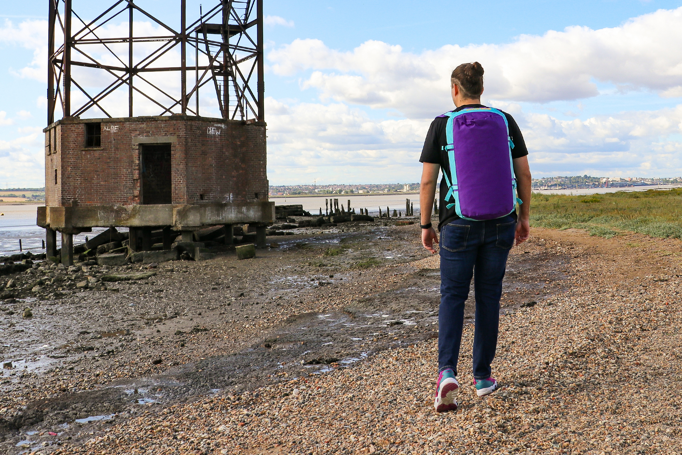 Wearing The North Face Base Camp Duffel As A Backpack In Essex England