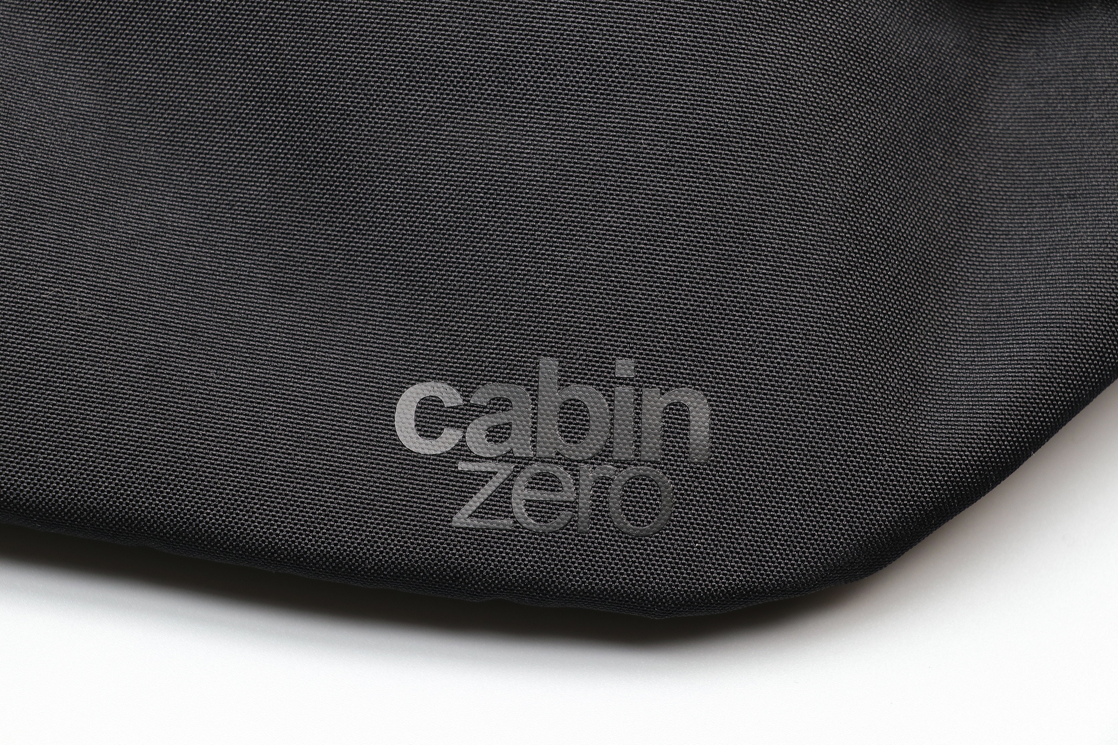 CabinZero Hip Pack 2L Logo & 600D Polyester Material
