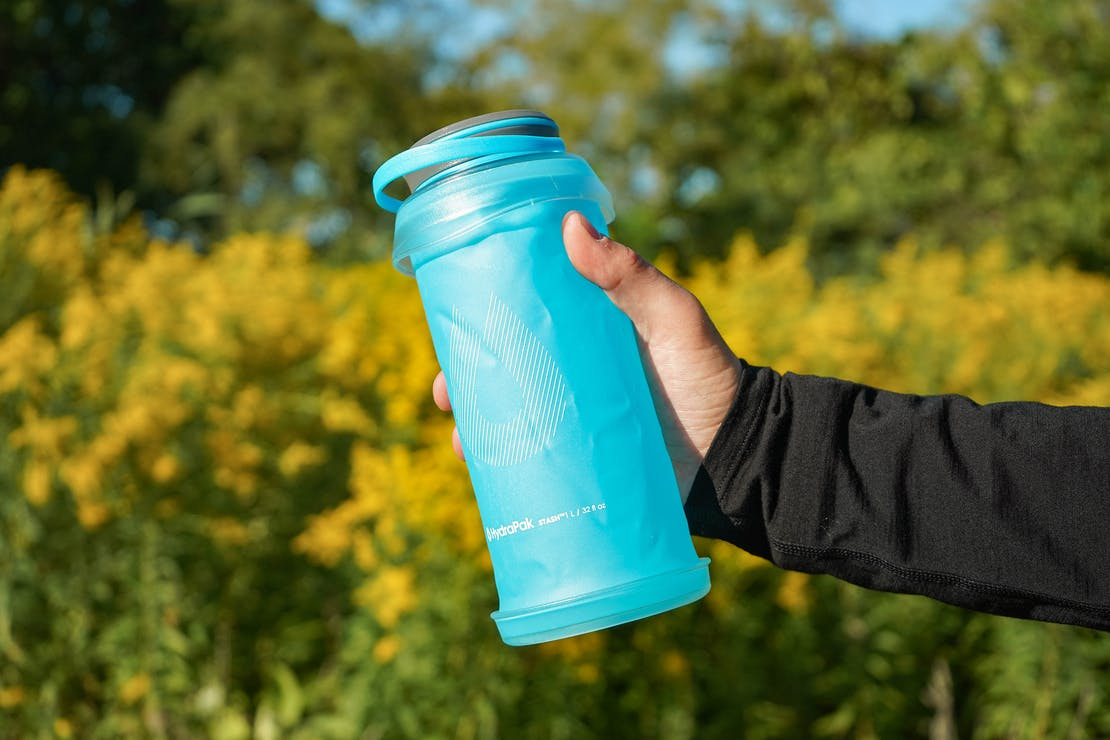 HydraPak Stash 1L Collapsible Water Bottle