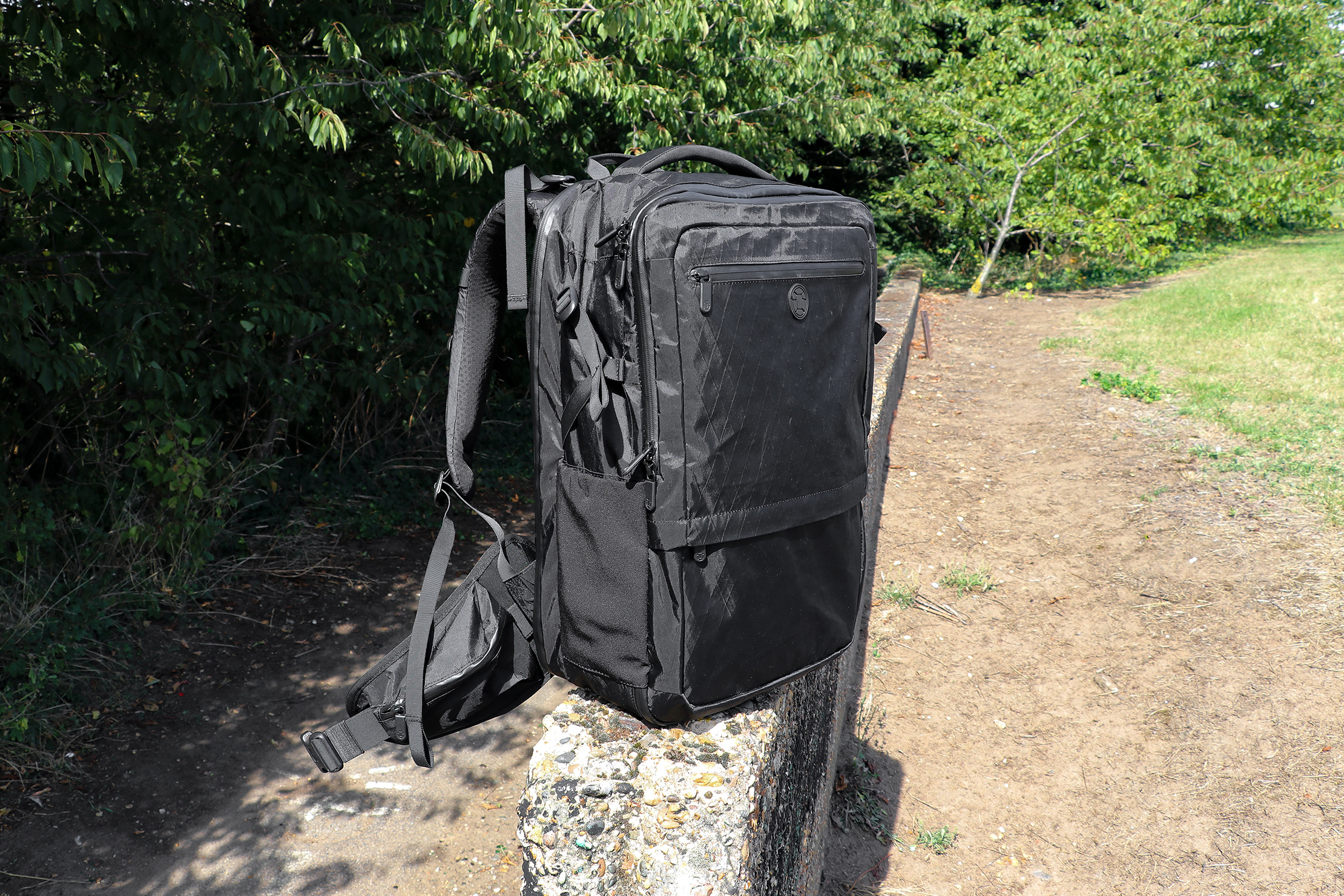Tortuga Outbreaker Backpack Standing On Its Own