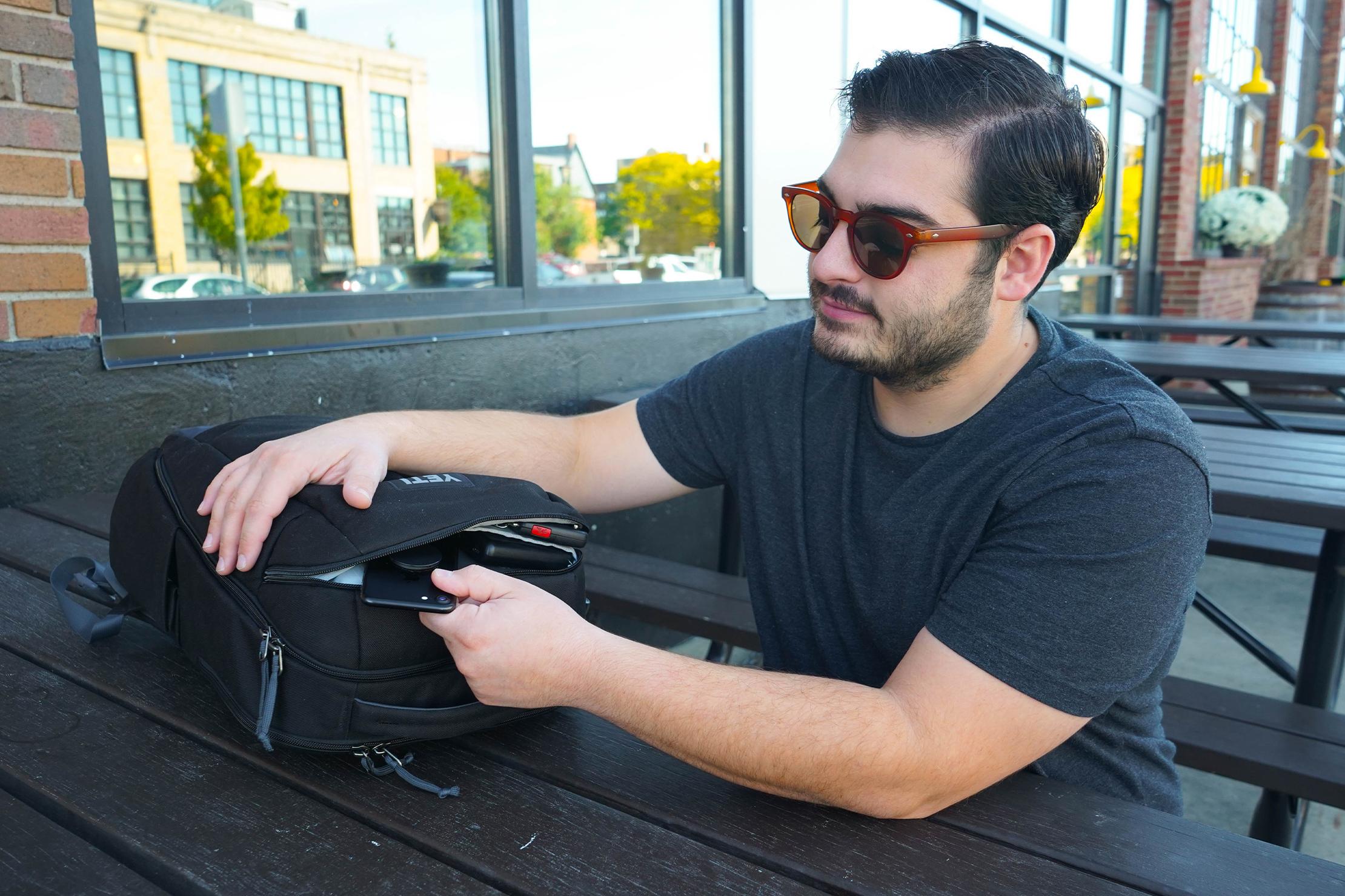 YETI Crossroads Backpack 23 Quick-Grab Pocket Access