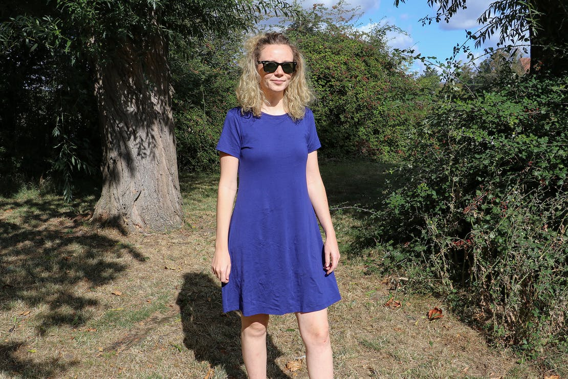 Uniqlo A-Line Short-Sleeve Mini Bra Dress In Essex, England