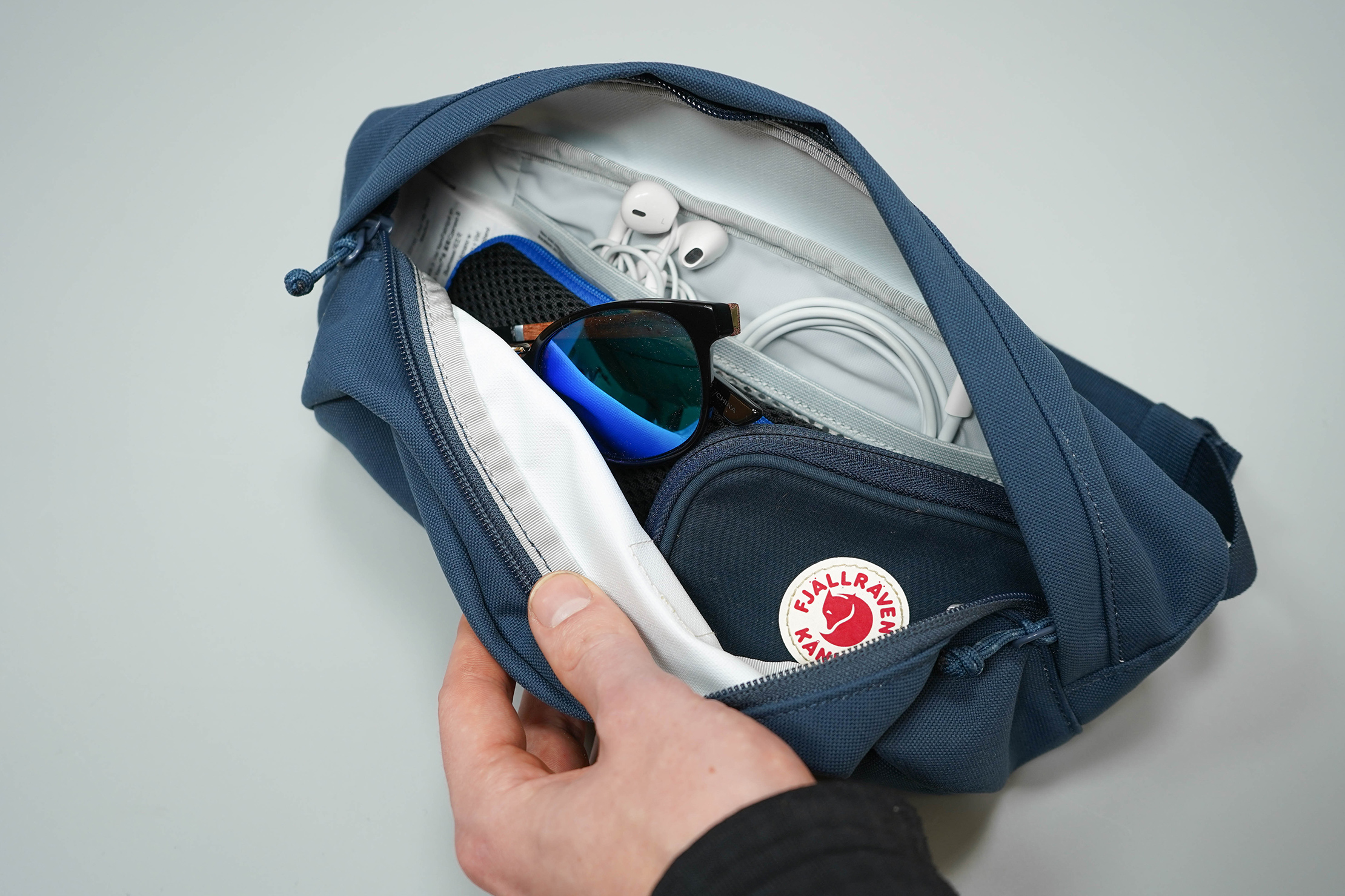 Fjallraven Ulvo Hip Pack Medium Main Compartment Packed