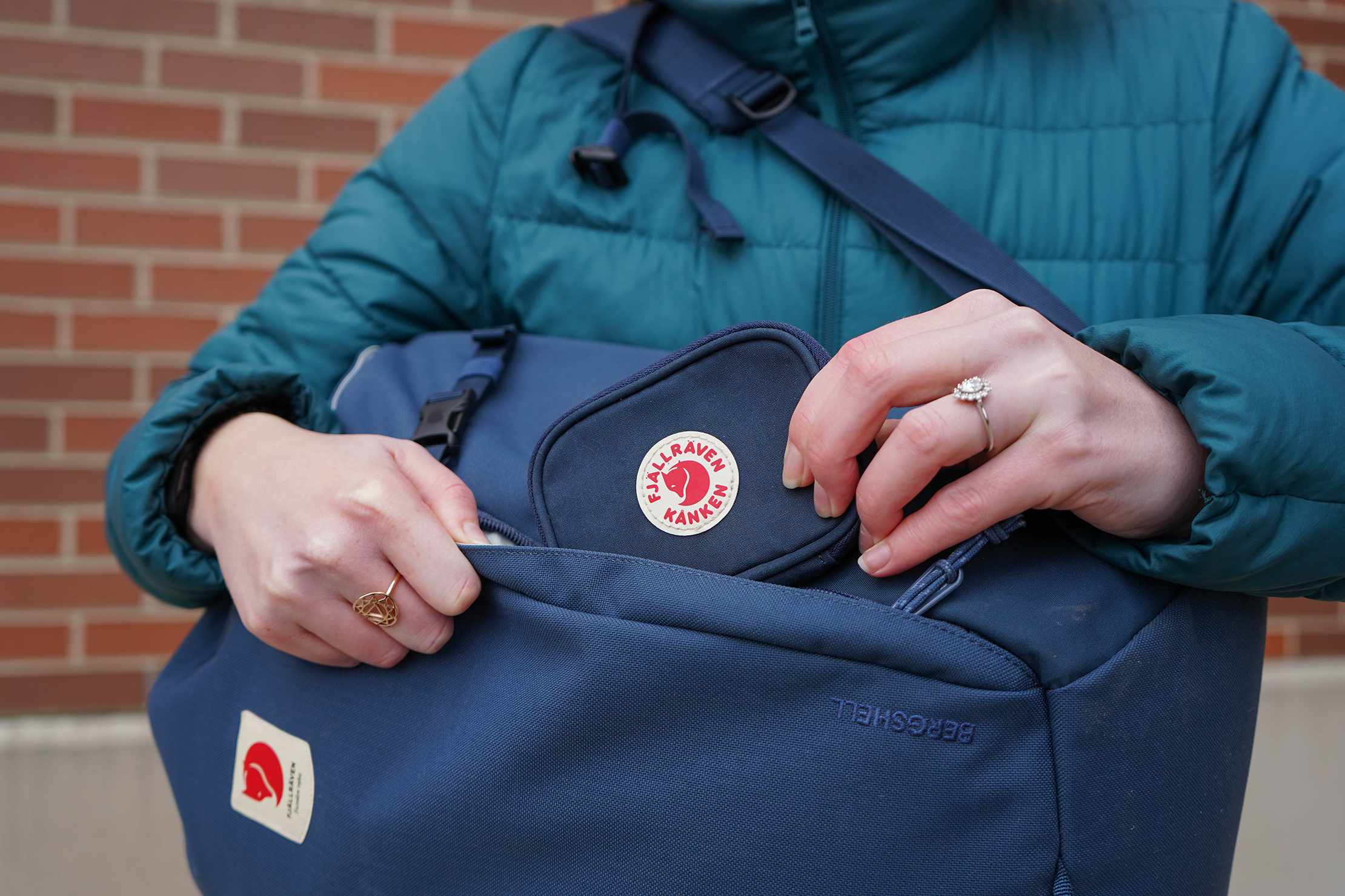 Fjallraven Kanken Card Wallet In Bag