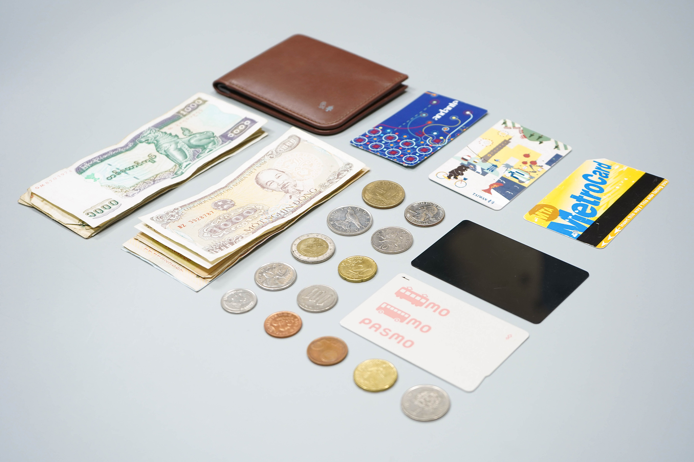 Bellroy Hide And Seek RFID Wallet Huckberry Exclusive Flat Lay