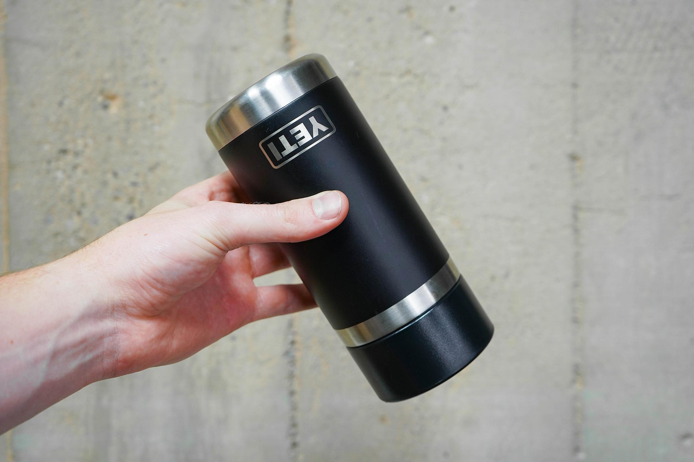 Yeti Rambler 12oz Bottle With HotShot Cap Upside Down