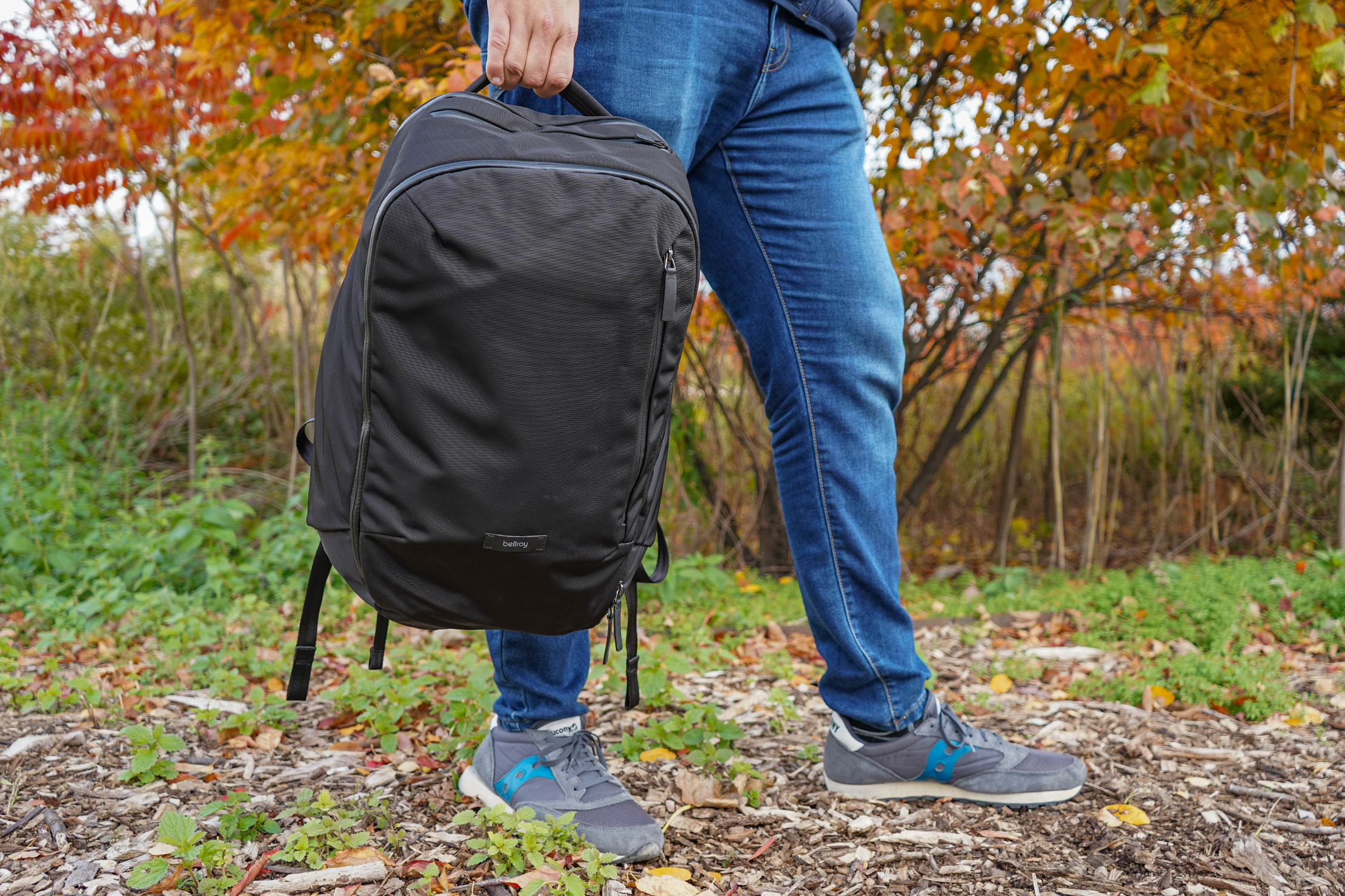 Bellroy Transit Backpack Held By Top Handle