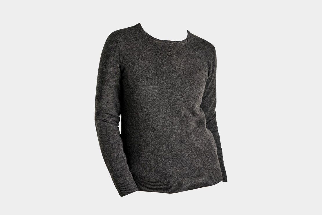 WoolOvers Cashmere and Merino Crew Neck Knitted Sweater