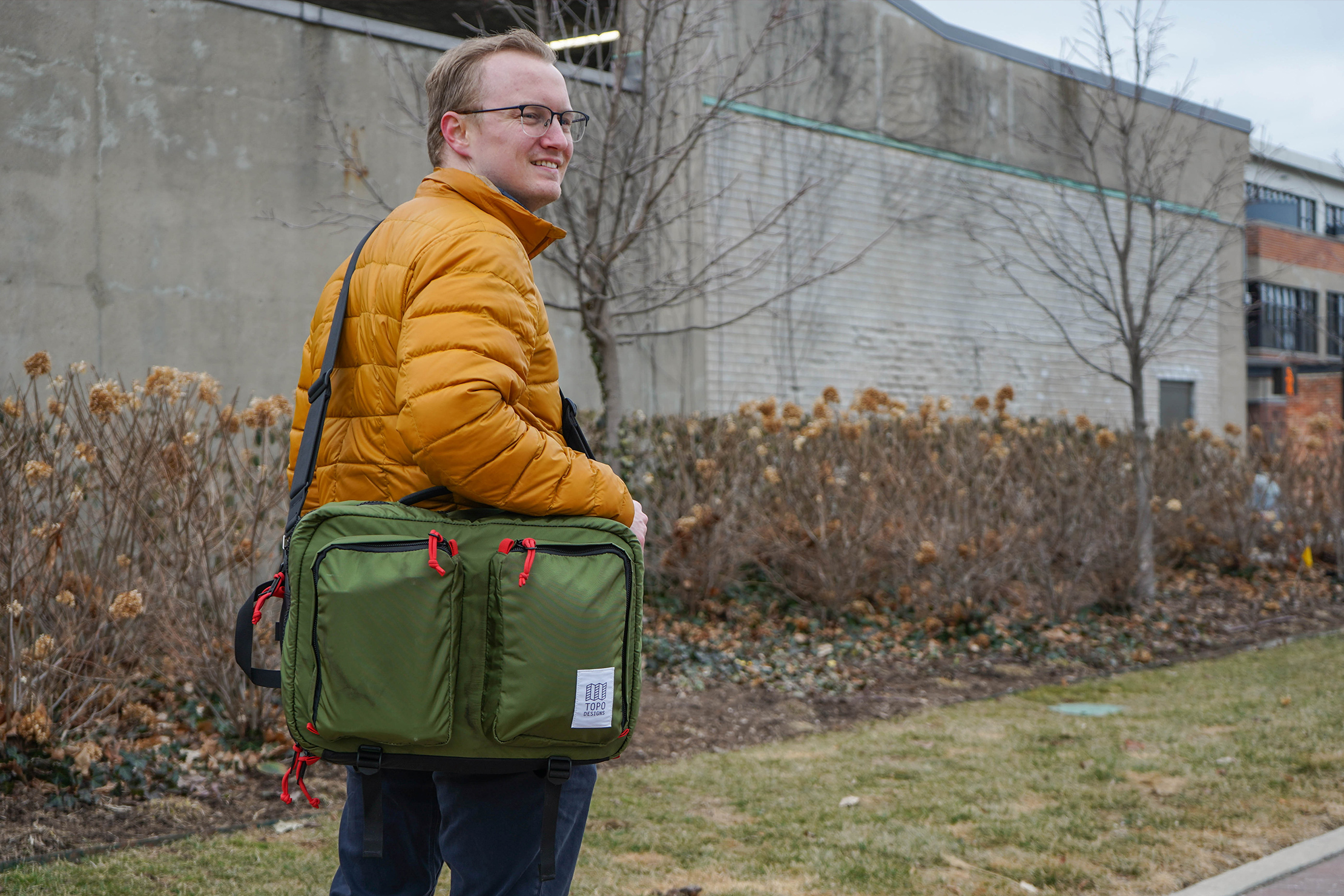 Topo Designs Global Briefcase 3-Day Messenger Carry