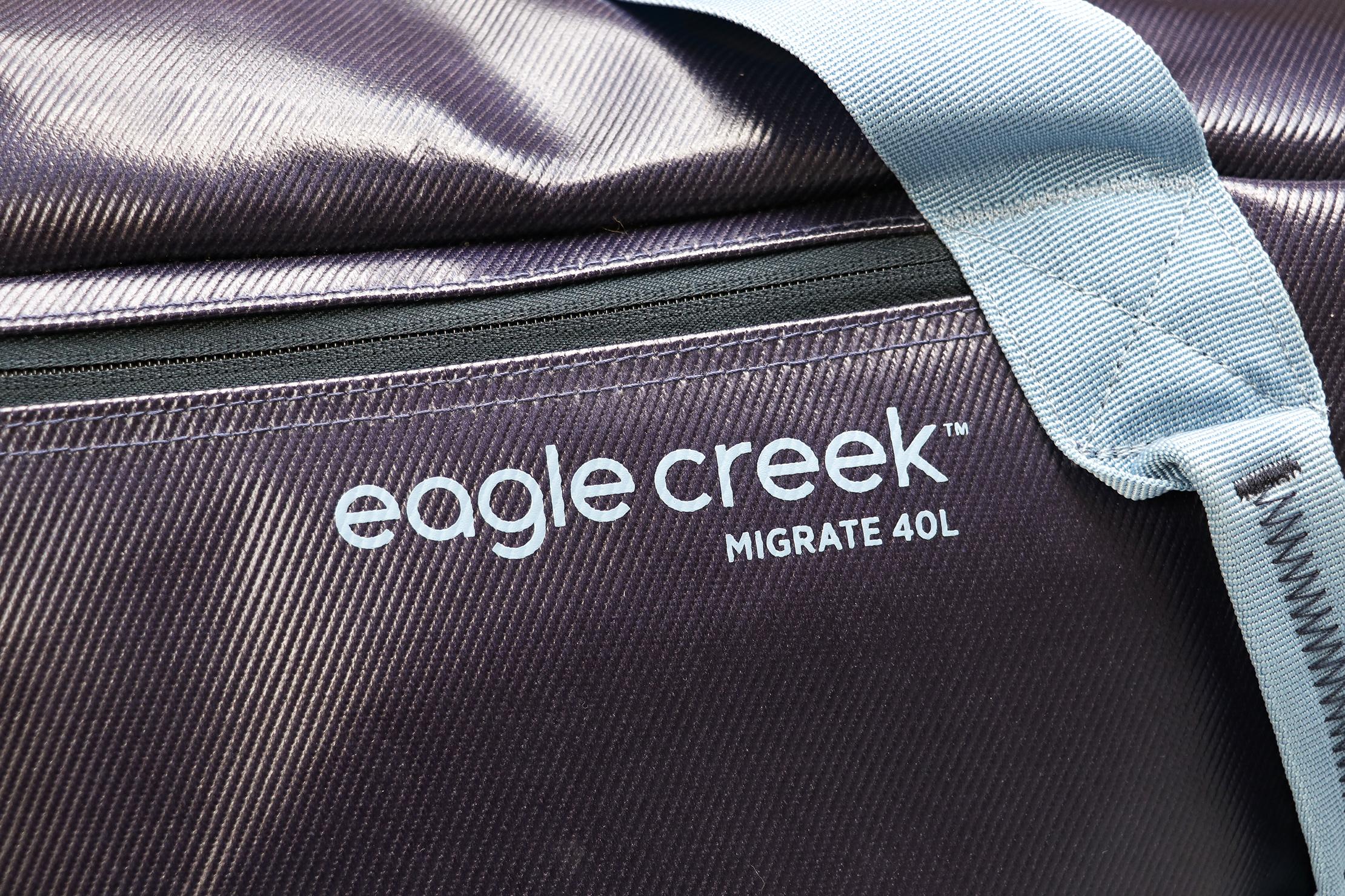 Eagle Creek Migrate Duffel 40L Top Material and Logo