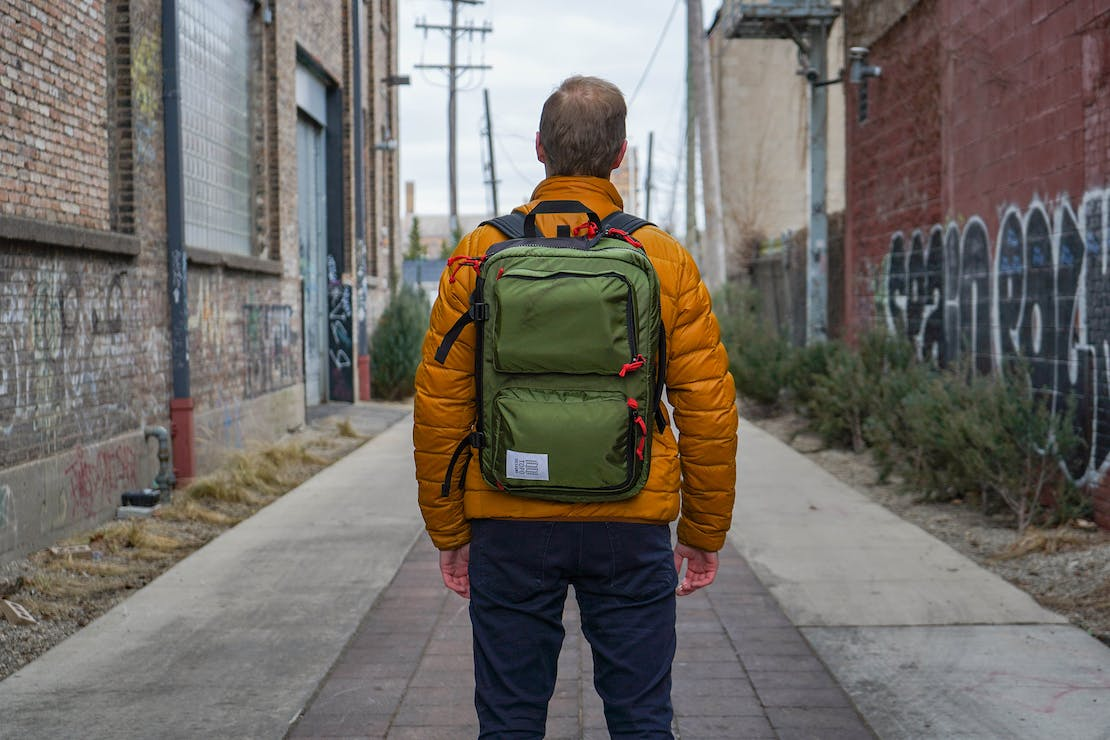 Topo Designs Global Briefcase 3 Day Backpack Carry