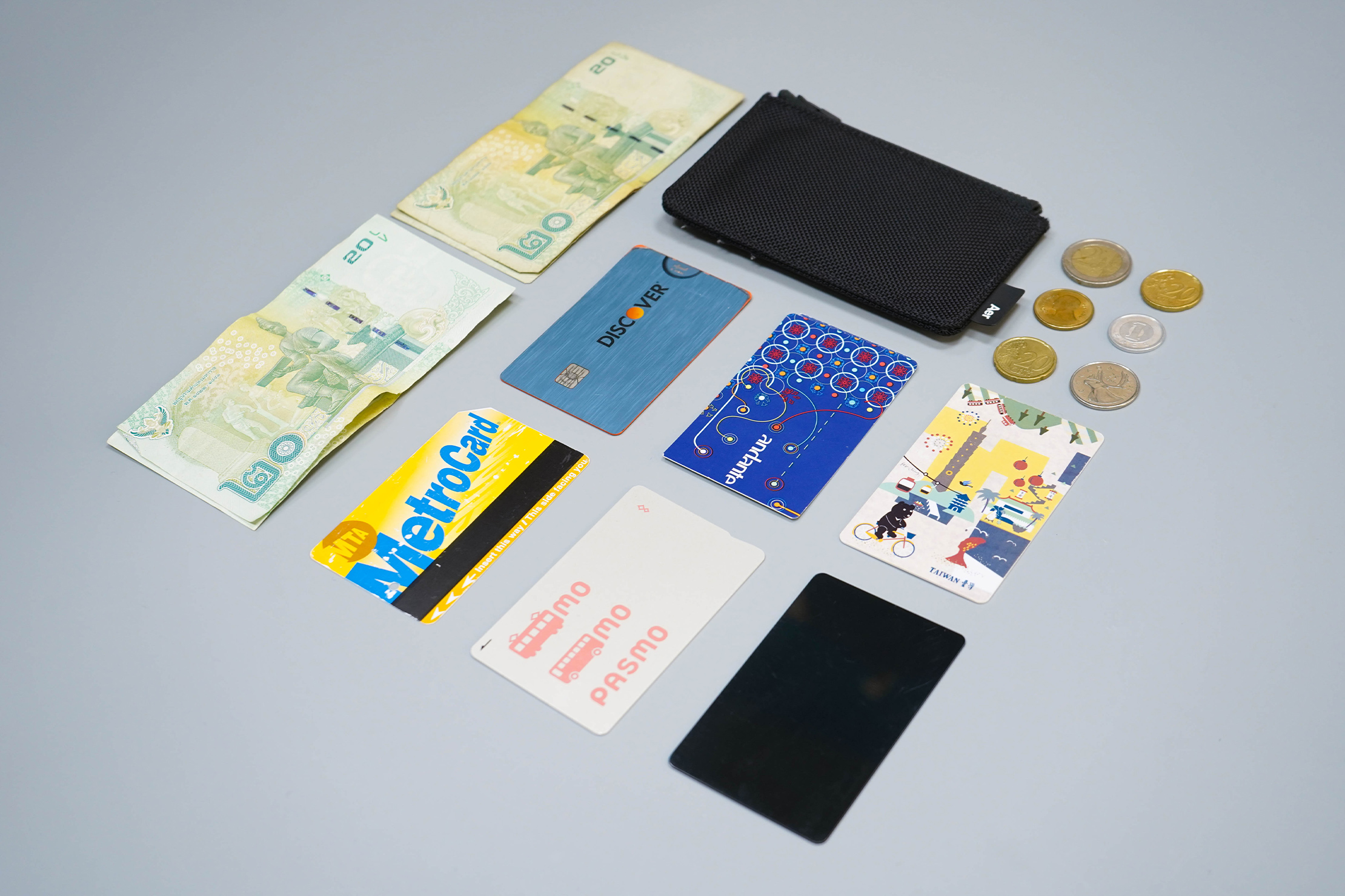 Aer Cardholder Flat Lay