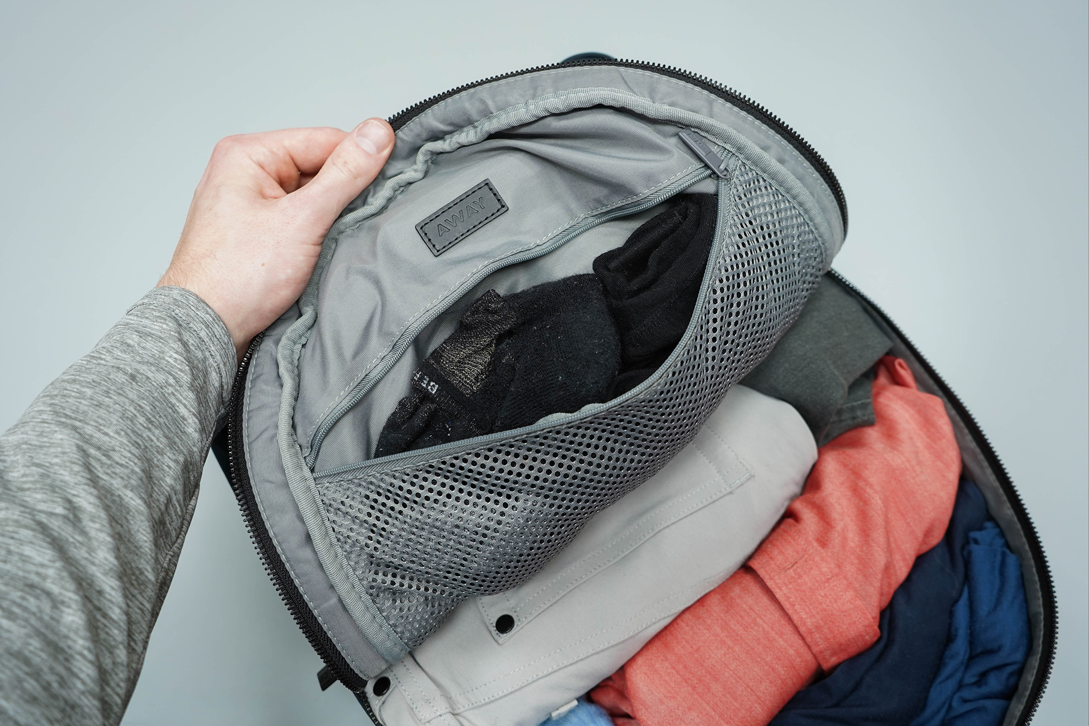 Away The Backpack Main Compartment Zipper Pocket