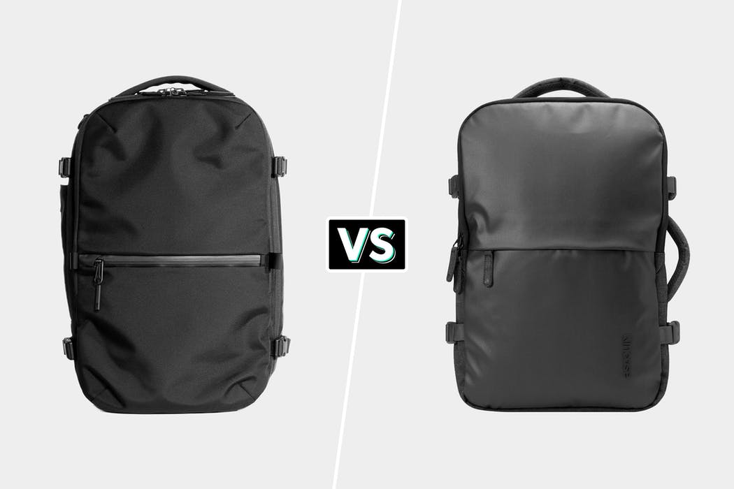 Aer Travel Pack 2 Vs Incase EO Travel Backpack Comparison