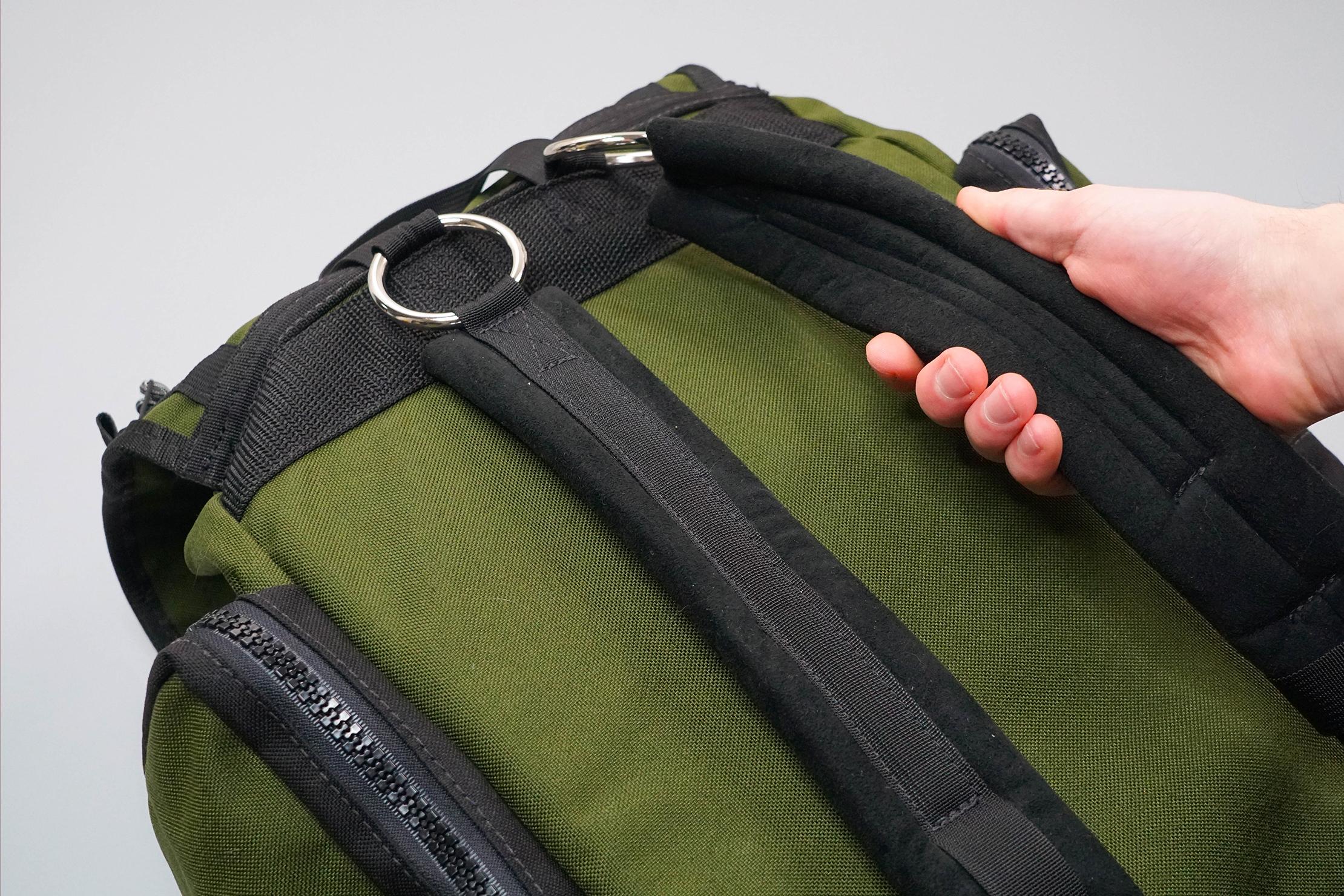Red Oxx C-Ruck Carry-On Rucksack Shoulder Straps