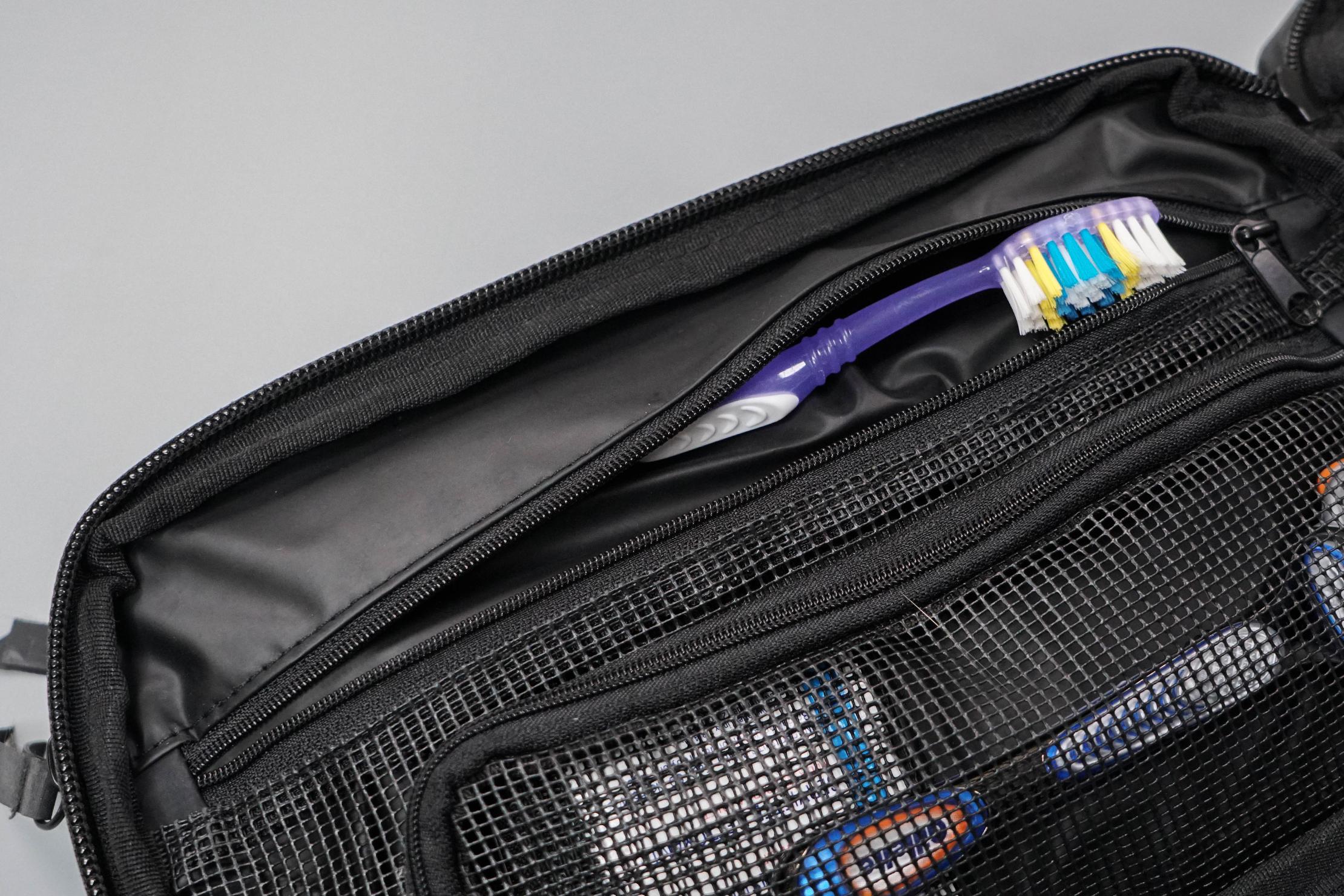 Gravel Explorer Plus Toiletry Bag Toothbrush