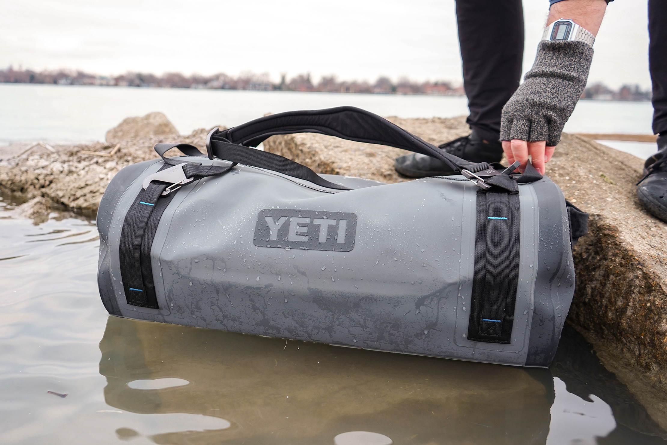 YETI Panga 50 Dry Duffel In The Water