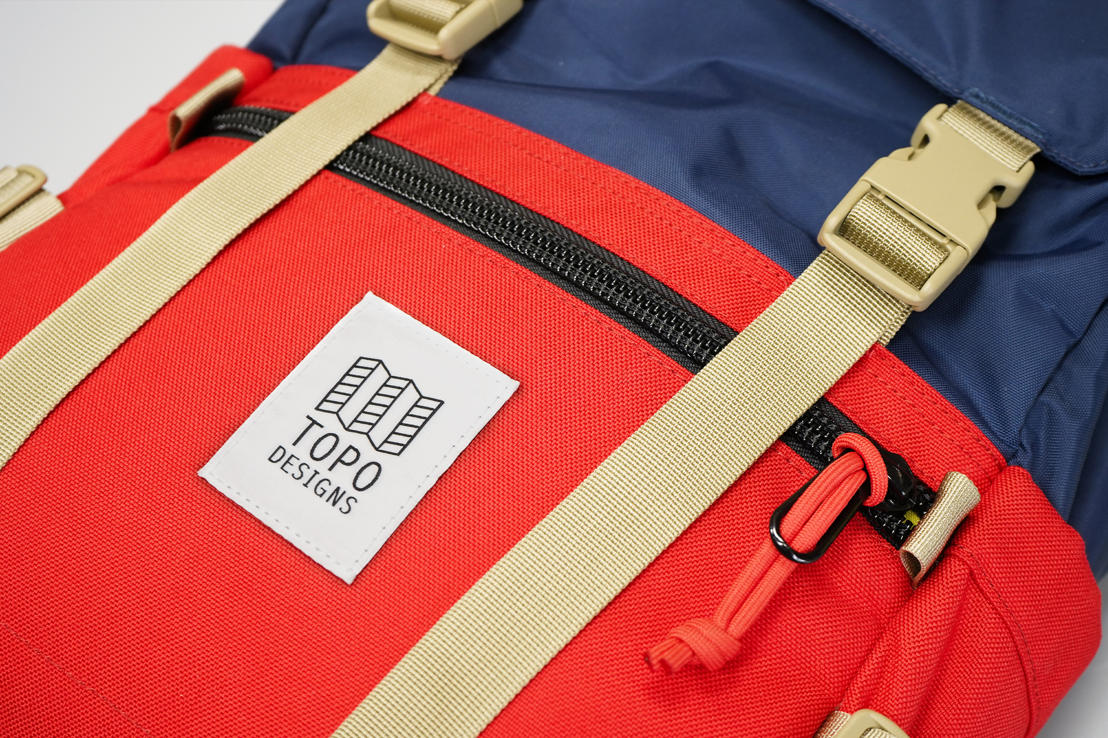 Topo Designs Rover Pack Classic | The YKK zippers on the quick-grab pockets feel chunky and easy to use