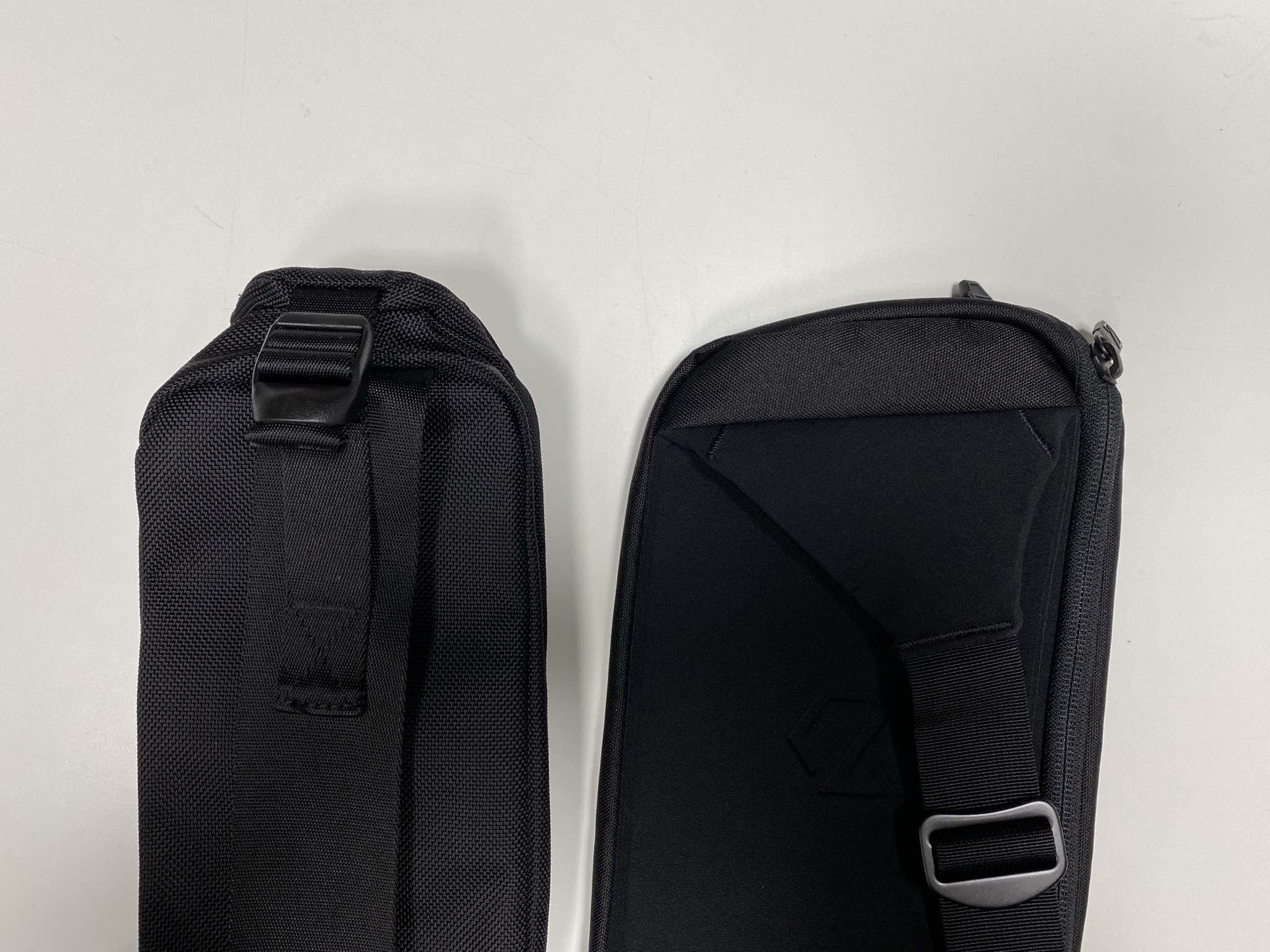 Sling with Adjustment Strap vs Minaal Crossbody Bag