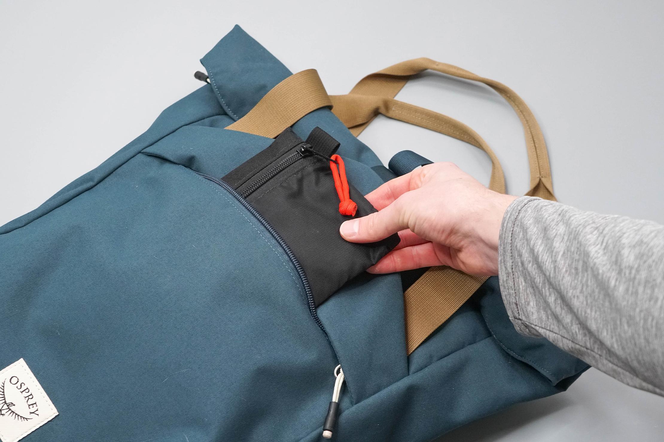 Osprey Arcane Tote Pack Front Pocket