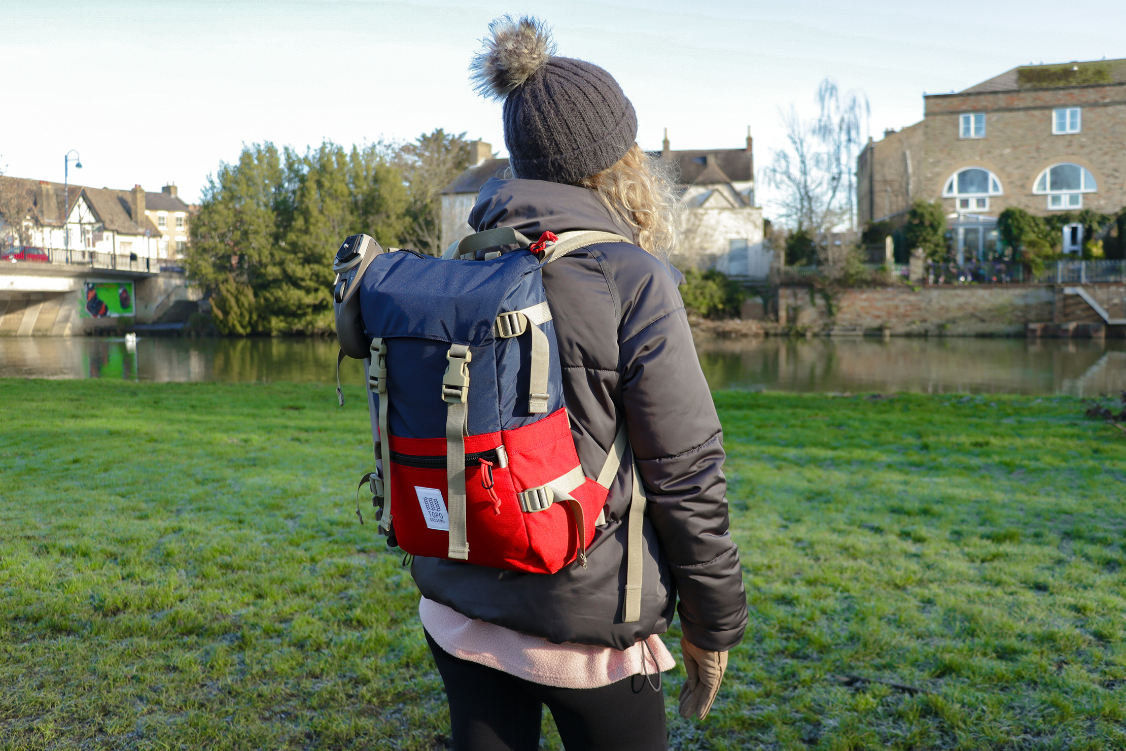 Topo Designs Rover Pack Classic | The two-tone design makes it pop out from the scenery