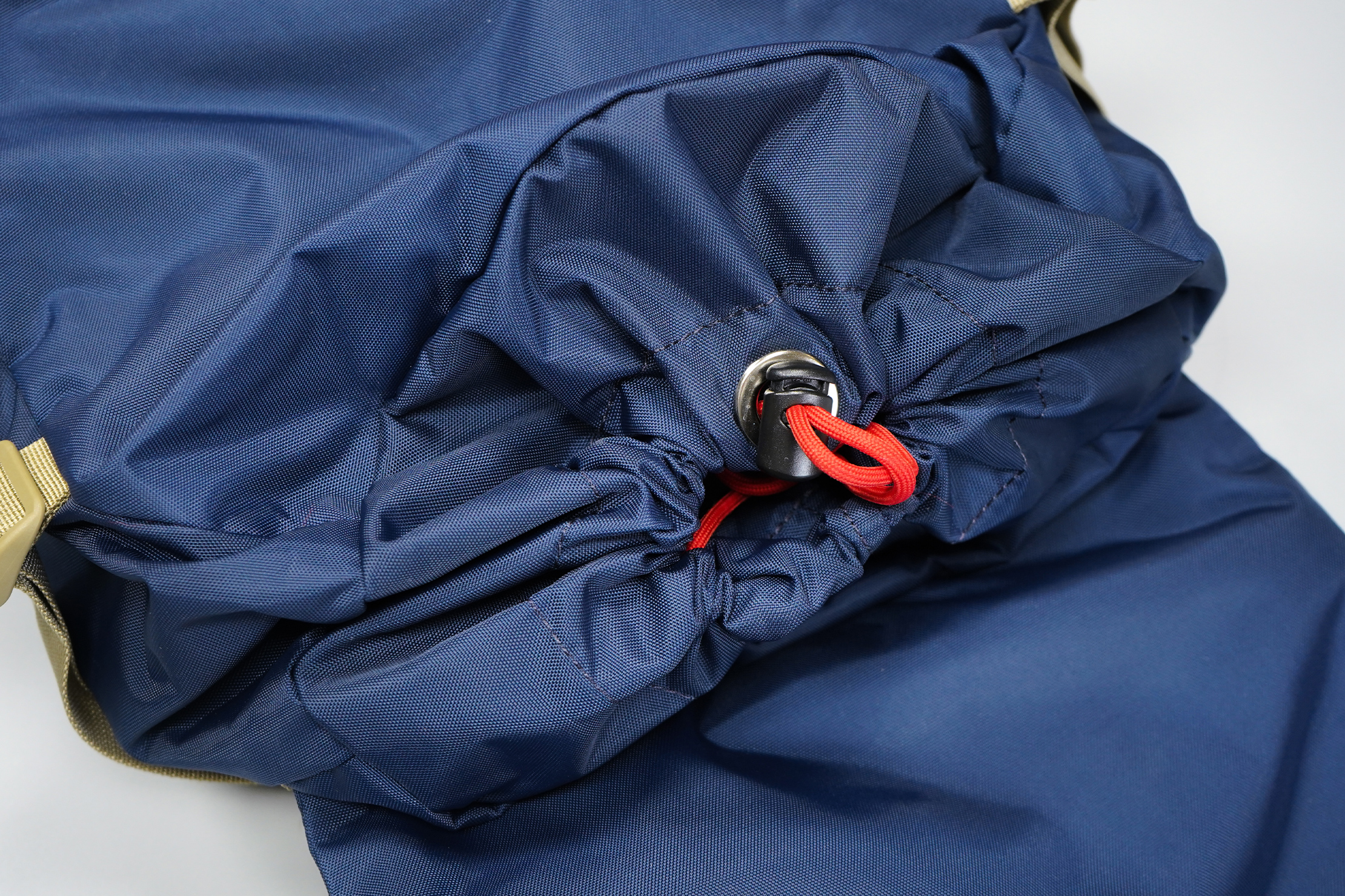 Topo Designs Rover Pack Classic | It's a lengthy drawstring, but you can tuck it in for a cleaner look