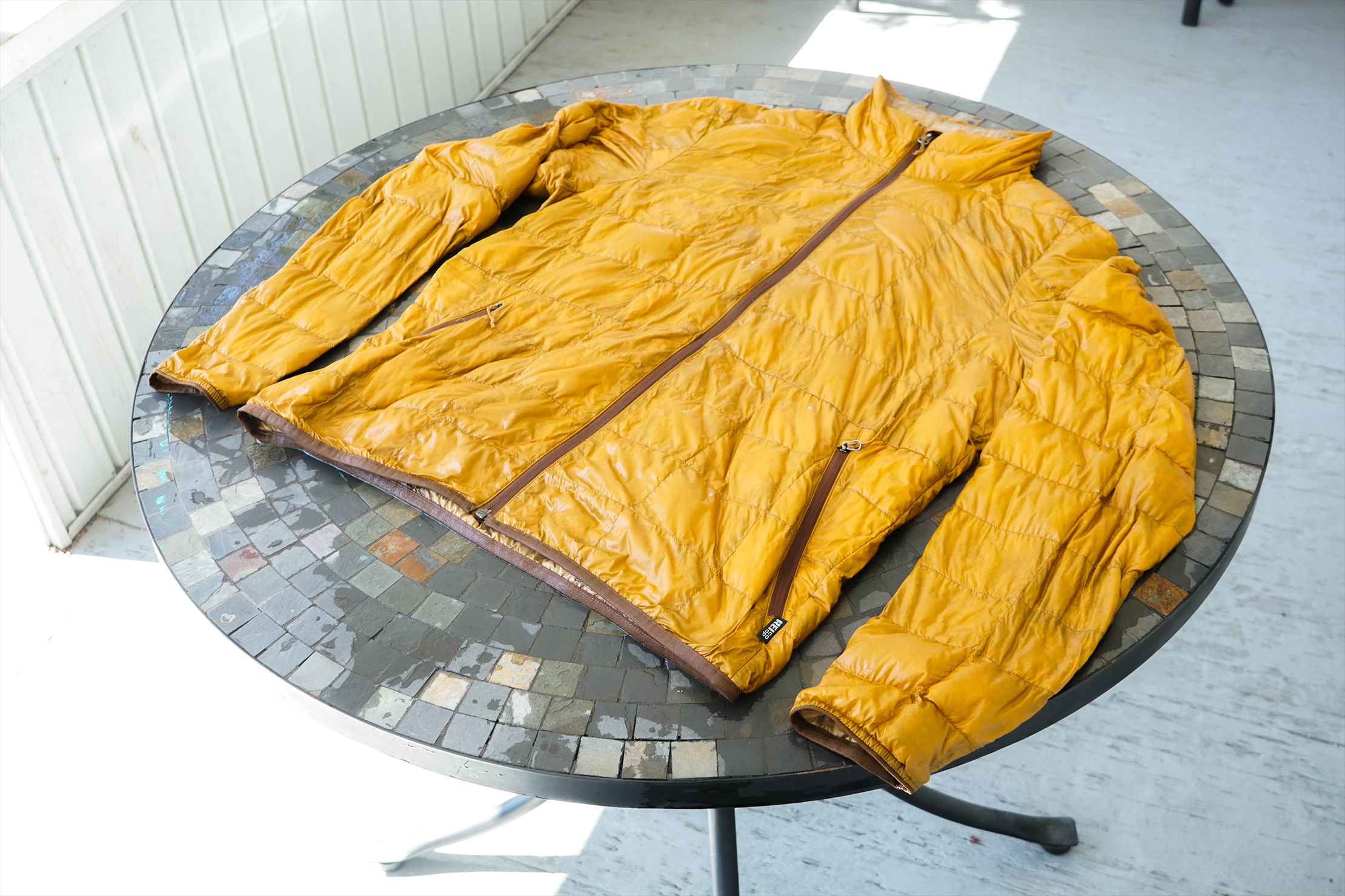 Laying Out Jacket to Dry
