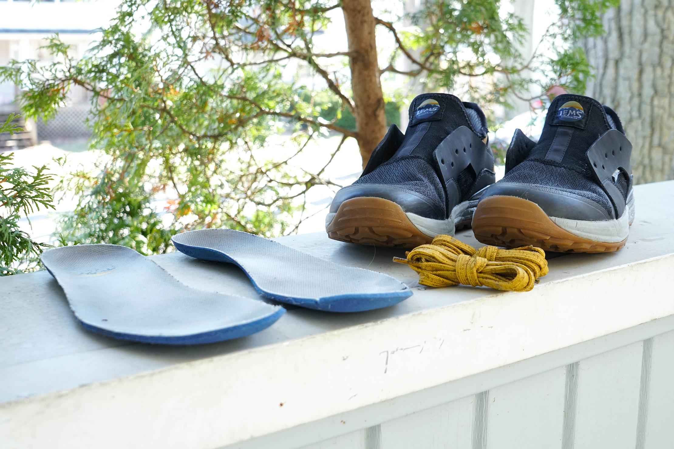 Taking Apart Shoes Before Washing