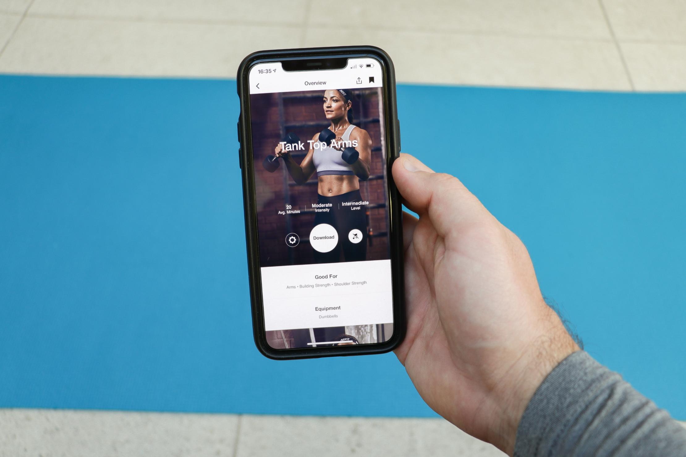 iPhone Nike Training Club App