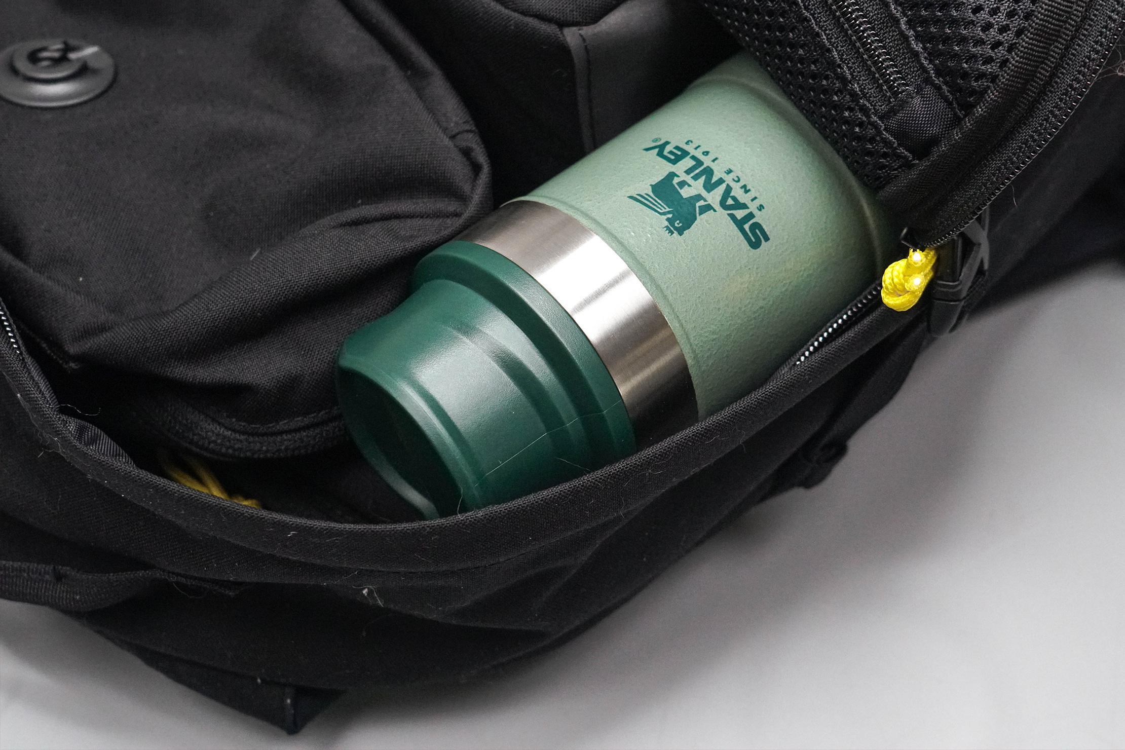 Stanley Classic Trigger-Action Travel Mug 12oz in Backpack
