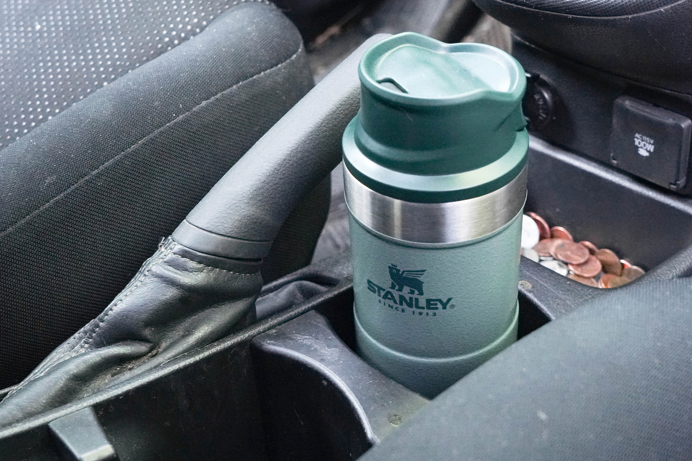 Stanley Classic Trigger-Action Travel Mug 12oz in Cup Holder
